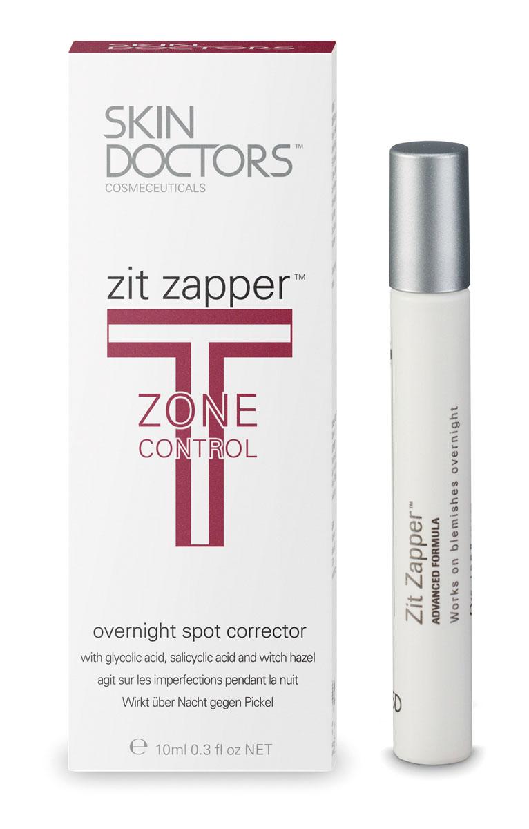 Skin Doctors Лосьон-карандаш T-Zone Control Zit Zapper, для проблемной кожи, 10 мл952215Лосьон-карандаш Zit Zapper - средство для интенсивного лечения угрей, которое всего за 8 часов заметно улучшает состояние кожи. В результате научных разработок была получена совершенно новая формула, позволяющая добиться уменьшения угрей за счет подсушивания в течение ночи. В отличие от других средств ежедневного использования, которые очищают кожу и устраняют причины появления прыщей, действие Zit Zapper направлено на их быстрое подсушивание. Действие Zit Zapper обусловлено: Глубоким очищением пор и отшелушиванием отмерших клеток; Подсушивающим эффектом; Очищением пораженного участка; Снятием воспаления.