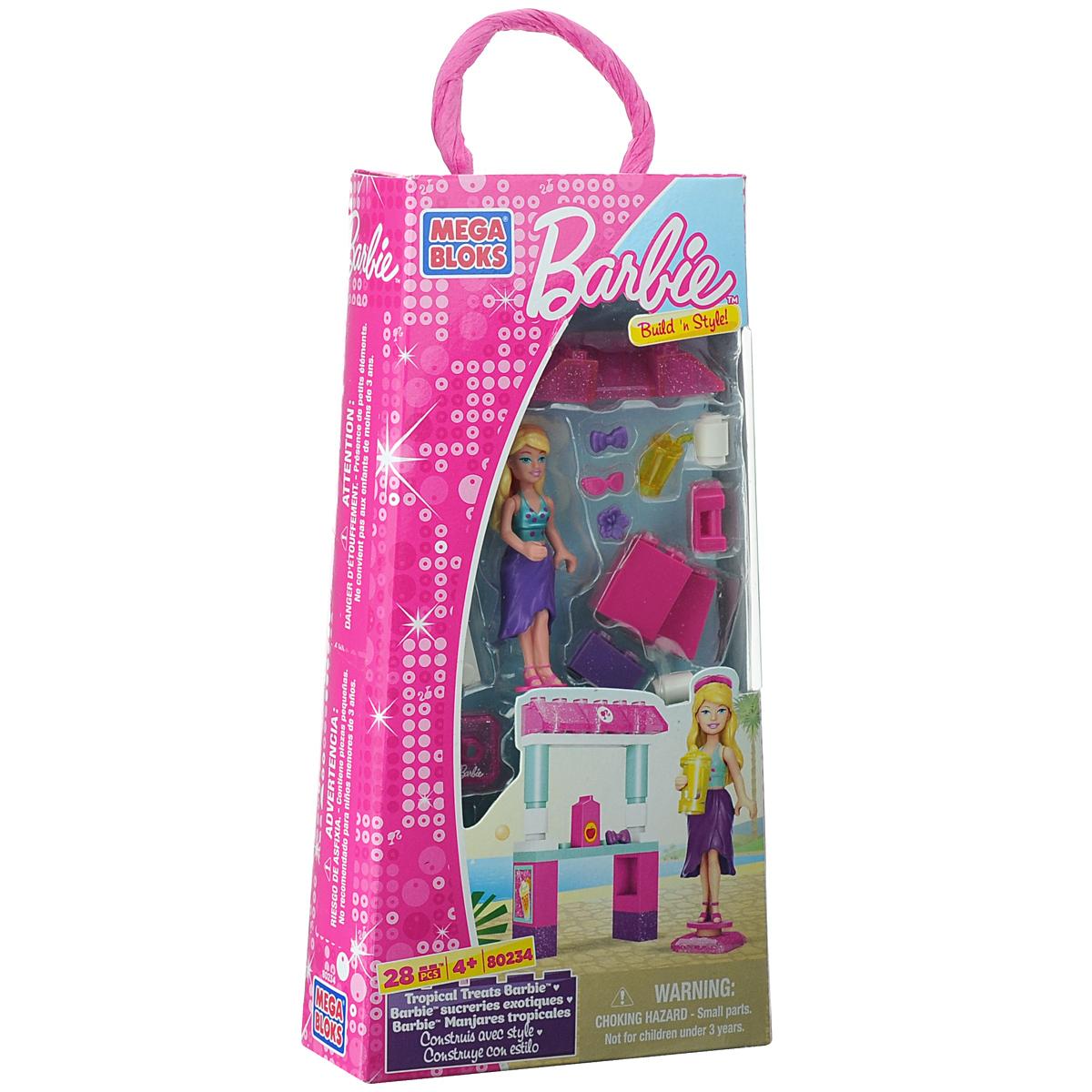 Mega Bloks Barbie Конструктор Тропическая Барби