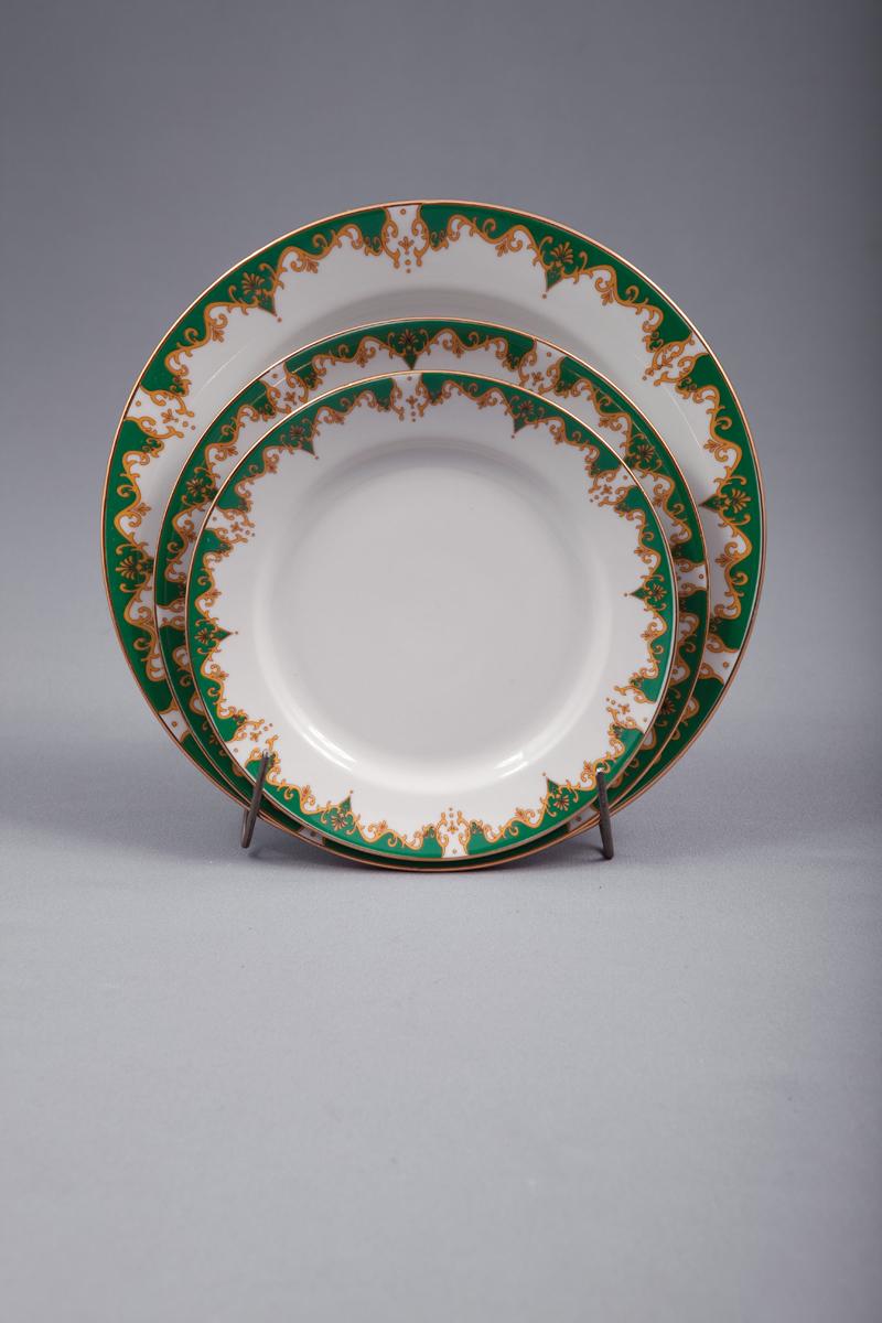Набор тарелок 18 шт. Гладкий край Торжество00111Набор тарелок 18 шт. Гладкий край Торжество