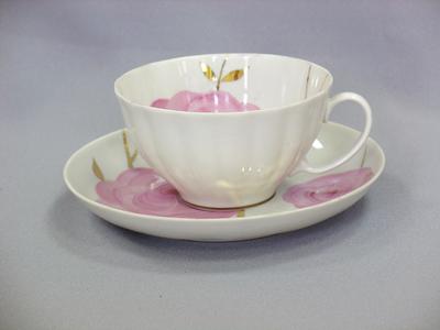 Чашка чайная с блюдцем 275 мл Белый лебедь ВесеннийС113Чашка чайная с блюдцем 275 мл Белый лебедь Весенний