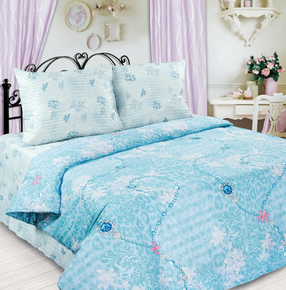 Комплект белья Любимый дом Спящая красавица, 1,5-спальный, наволочки 70х70, цвет: голубой, белый264407Комплект постельного белья Любимый дом Спящая красавица состоит из пододеяльника, простыни и двух наволочек. Удивительной красоты рисунок сочетает в себе нежность и теплоту. Постельное белье Любимый дом Спящая красавица создано для романтичных натур, которые любят изысканный дизайн. Белье изготовлено из новой ткани Биокомфорт, отвечающей всем необходимым нормативным стандартам. Биокомфорт - это ткань полотняного переплетения, из экологически чистого и натурального 100% хлопка. Неоспоримым плюсом белья из такой ткани является мягкость и легкость, она прекрасно пропускает воздух, приятна на ощупь, не образует катышков на поверхности и за ней легко ухаживать. При соблюдении рекомендаций по уходу, это белье выдерживает много стирок, не линяет и не теряет свою первоначальную прочность. Уникальная ткань обеспечивает легкую глажку. Приобретая комплект постельного белья Любимый дом Спящая красавица, вы можете быть уверенны в том, что покупка доставит...