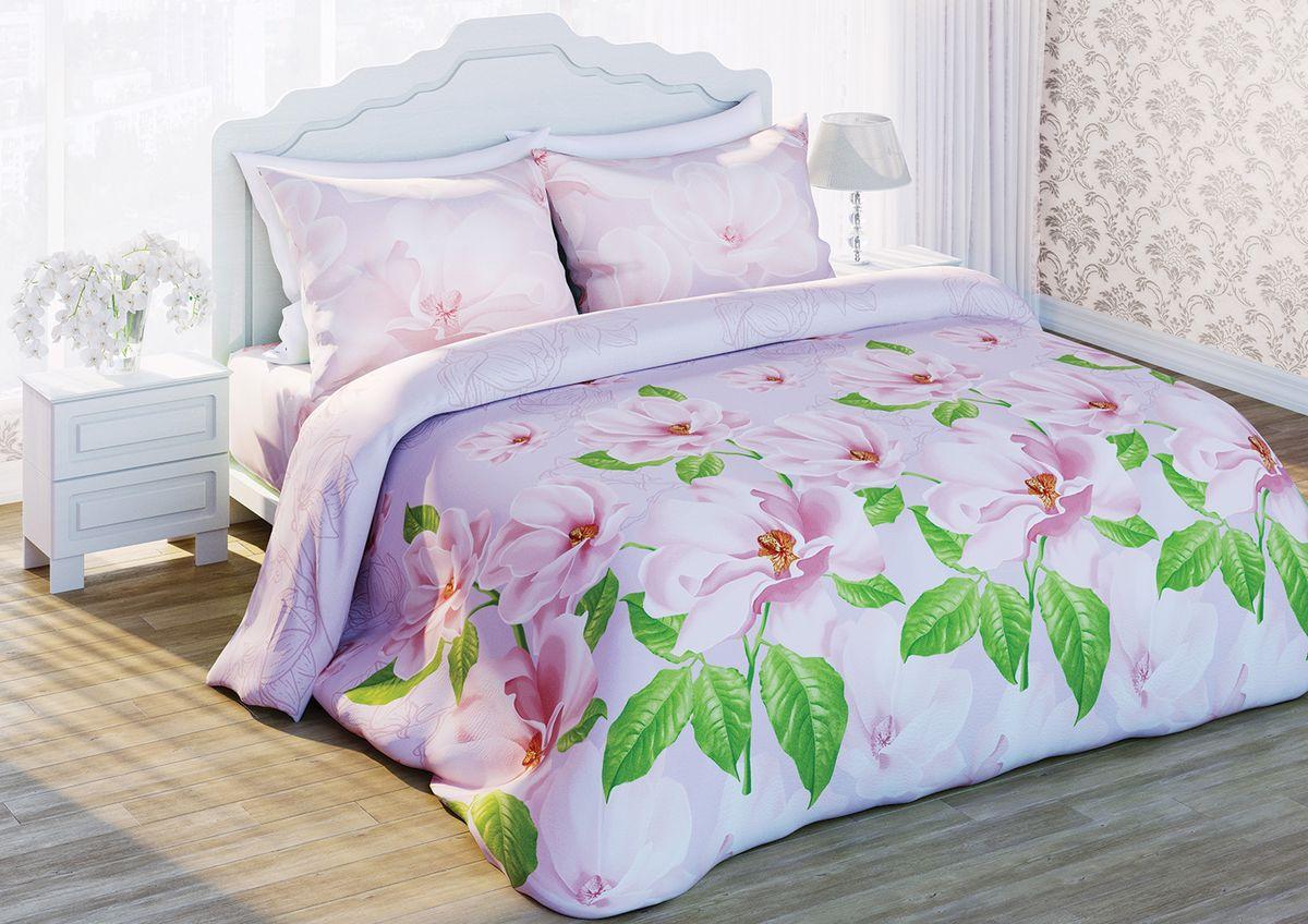 Комплект белья Любимый дом Магнолия жемчужная, 1,5-спальный, наволочки 70х70, цвет: белый, зеленый, розовый284419Комплект постельного белья Любимый дом Магнолия жемчужная состоит из пододеяльника, простыни и двух наволочек. Удивительной красоты рисунок сочетает в себе, нежность и теплоту. Постельное белье Любимый дом Магнолия жемчужная создано для романтичных натур, которые любят изысканный дизайн. Белье изготовлено из новой ткани Биокомфорт, отвечающей всем необходимым нормативным стандартам. Биокомфорт - это ткань полотняного переплетения, из экологически чистого и натурального 100% хлопка. Неоспоримым плюсом белья из такой ткани является мягкость и легкость, она прекрасно пропускает воздух, приятна на ощупь, не образует катышков на поверхности и за ней легко ухаживать. При соблюдении рекомендаций по уходу, это белье выдерживает много стирок, не линяет и не теряет свою первоначальную прочность. Уникальная ткань обеспечивает легкую глажку. Приобретая комплект постельного белья Любимый дом Магнолия жемчужная, вы можете быть уверенны в том, что покупка...