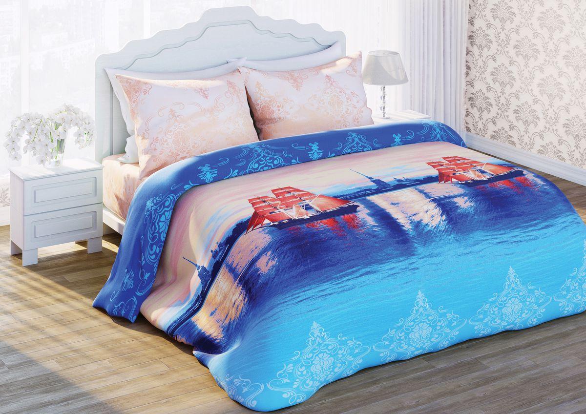 Комплект белья 3D Любимый дом Нева, 2-спальный, наволочки 70х70, цвет: розовый, синий, голубой. 292289292289Комплект постельного белья Любимый дом Нева состоит из пододеяльника, простыни и двух наволочек. Постельное белье оформлено оригинальным 3D рисунком парусников на Неве и имеет изысканный внешний вид. Белье изготовлено из новой ткани Биокомфорт, отвечающей всем необходимым нормативным стандартам. Биокомфорт - это ткань полотняного переплетения, из экологически чистого и натурального 100% хлопка. Неоспоримым плюсом белья из такой ткани является мягкость и легкость, она прекрасно пропускает воздух, приятна на ощупь, не образует катышков на поверхности и за ней легко ухаживать. При соблюдении рекомендаций по уходу, это белье выдерживает много стирок, не линяет и не теряет свою первоначальную прочность. Уникальная ткань обеспечивает легкую глажку. Приобретая комплект постельного белья Любимый дом Нева, вы можете быть уверенны в том, что покупка доставит вам и вашим близким удовольствие и подарит максимальный комфорт.
