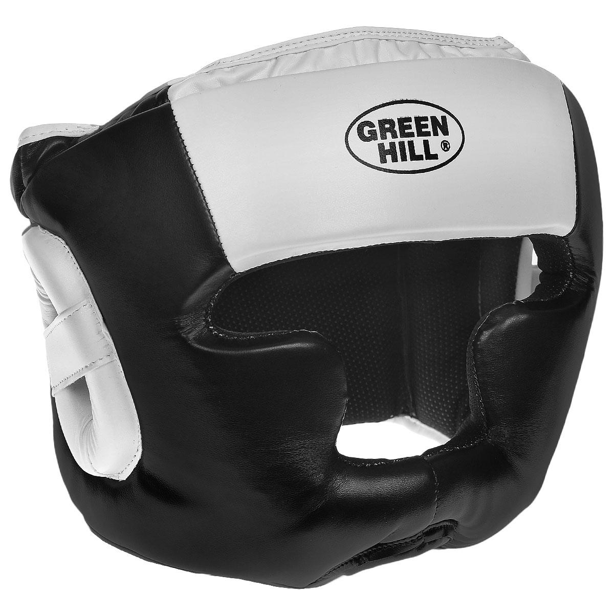 """Шлем тренировочный Green Hill """"Poise"""", цвет: черный, белый. Размер L (57-60 см) HGP-9015"""