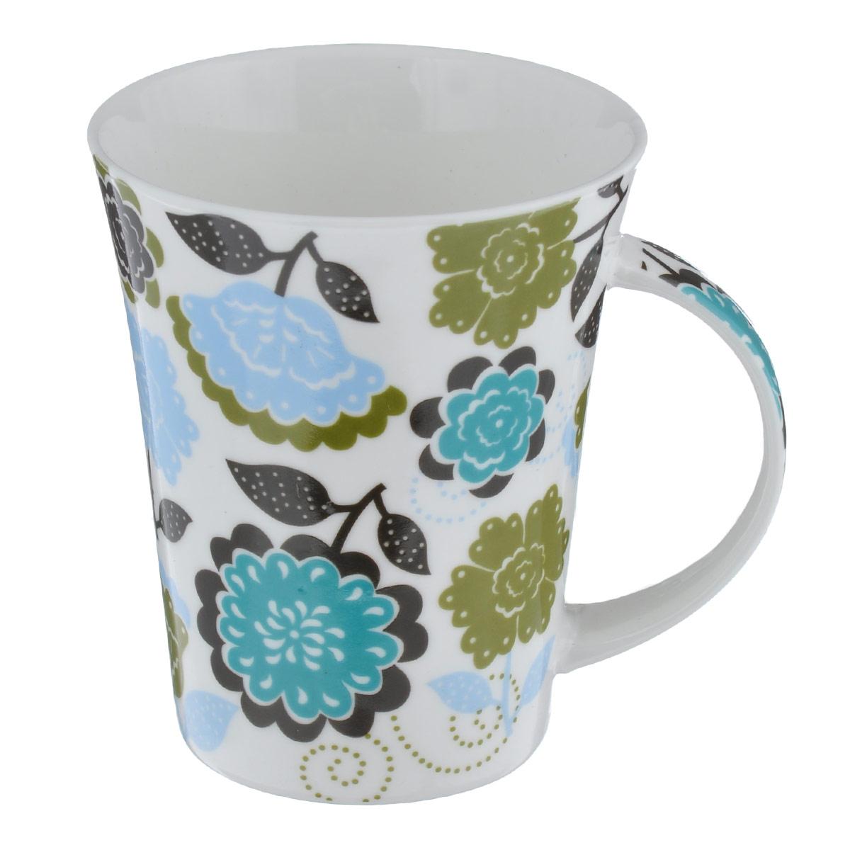 Кружка Фэнтези блю, 300 млLQB18-T080_цветыКружка Фэнтези блю изготовлена из высококачественного фарфора, покрытого слоем сверкающей глазури. Внешние стенки изделия оформлены красочным цветочным рисунком. Такая кружка прекрасно подойдет для горячих и холодных напитков. Она дополнит коллекцию вашей кухонной посуды и будет служить долгие годы. Можно использовать в посудомоечной машине и СВЧ. Объем кружки: 300 мл. Диаметр кружки (по верхнему краю): 9 см. Высота стенки кружки: 11 см.