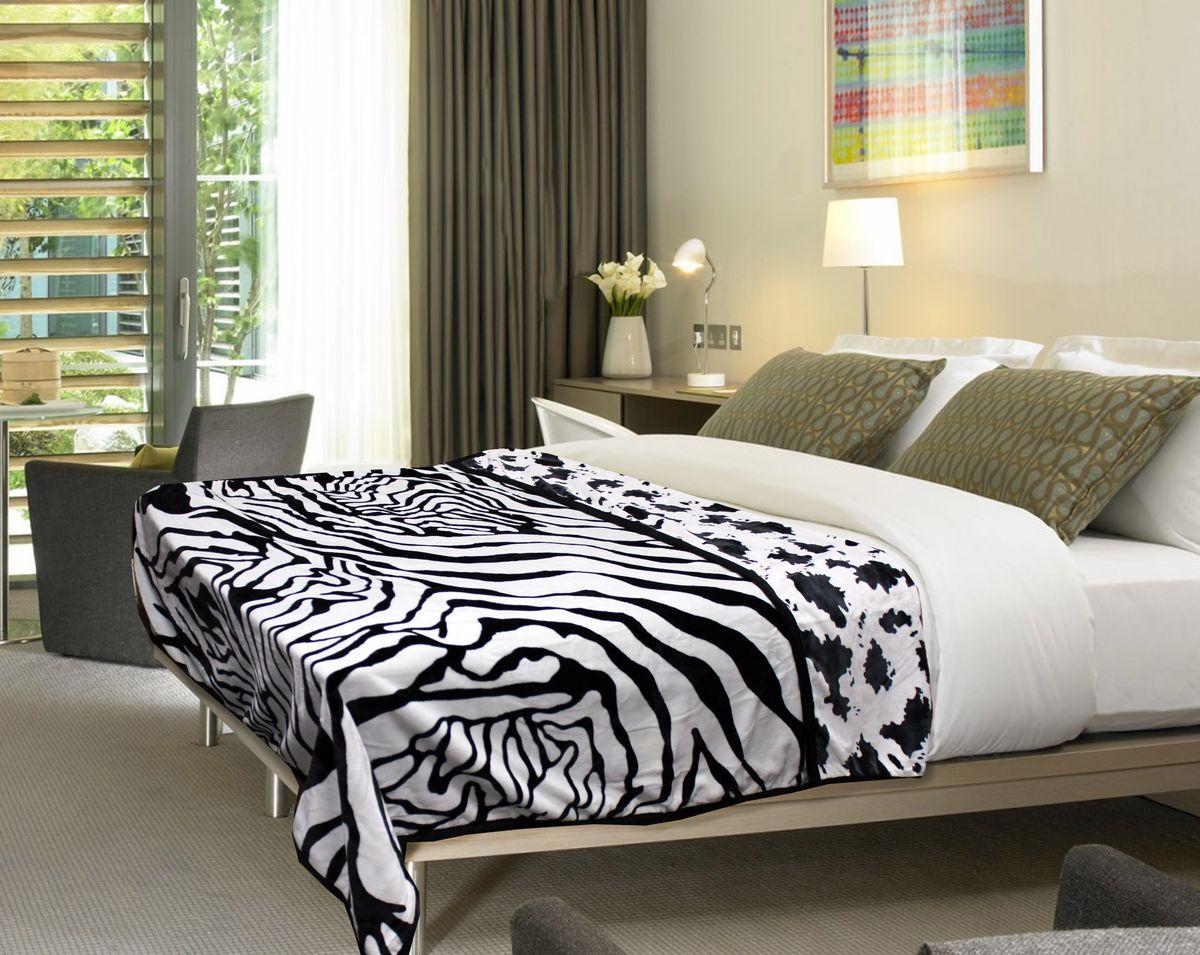 Плед Buenas Noches Zebra. Spot, цвет: белый, черный, 200 см х 220 см57456Плед Buenas Noches Zebra. Spot - это идеальное решение для вашего интерьера! Он порадует вас легкостью, нежностью и оригинальным дизайном! Плед выполнен из 100% полиэстера и оформлен рисунком под зебру. Полиэстер считается одной из самых популярных тканей. Это материал синтетического происхождения из полиэфирных волокон. Изделия из полиэстера не мнутся и легко стираются. После стирки очень быстро высыхают. Плед - это такой подарок, который будет всегда актуален, особенно для ваших родных и близких, ведь вы дарите им частичку своего тепла!