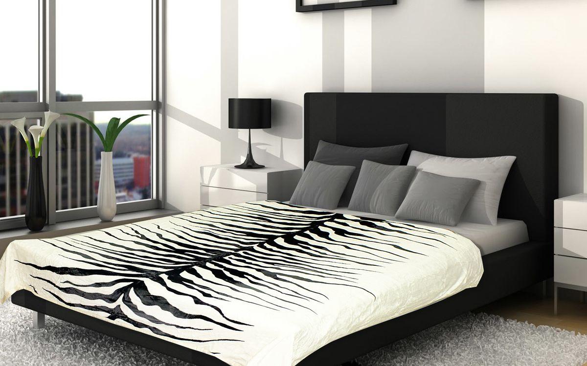 Плед Buenas Noches Фланель. Спина зебры, цвет: белый, черный, 160 см х 210 см61370Плед Buenas Noches - это идеальное решение для вашего интерьера! Он порадует вас легкостью, нежностью и оригинальным дизайном! Плед выполнен из 100% полиэстера и оформлен стилизованным принтом под окрас зебры. Полиэстер считается одной из самых популярных тканей. Это материал синтетического происхождения из полиэфирных волокон. Изделия из полиэстера не мнутся и легко стираются. После стирки очень быстро высыхают. Плед - это такой подарок, который будет всегда актуален, особенно для ваших родных и близких, ведь вы дарите им частичку своего тепла! Продукция торговой марки Buenas Noches сделана с особой заботой, специально для вас и уюта в вашем доме!