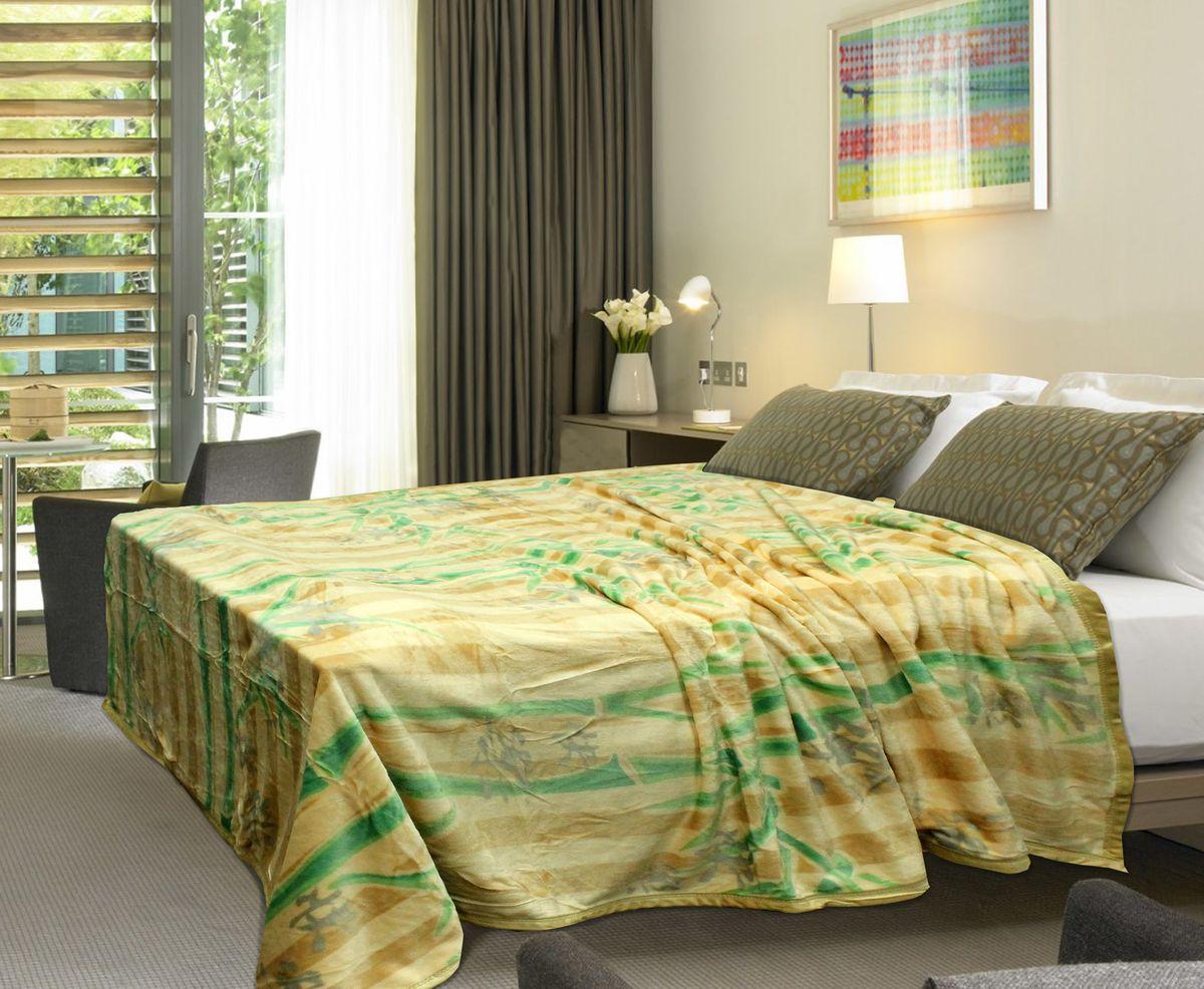 Плед Buenas Noches Фланель. Бамбук, цвет: персиковый, зеленый, 160 см х 210 см61371Плед Buenas Noches - это идеальное решение для вашего интерьера! Он порадует вас легкостью, нежностью и оригинальным дизайном! Плед выполнен из 100% полиэстера и оформлен изображением веток бамбука. Полиэстер считается одной из самых популярных тканей. Это материал синтетического происхождения из полиэфирных волокон. Изделия из полиэстера не мнутся и легко стираются. После стирки очень быстро высыхают. Плед - это такой подарок, который будет всегда актуален, особенно для ваших родных и близких, ведь вы дарите им частичку своего тепла! Продукция торговой марки Buenas Noches сделана с особой заботой, специально для вас и уюта в вашем доме!