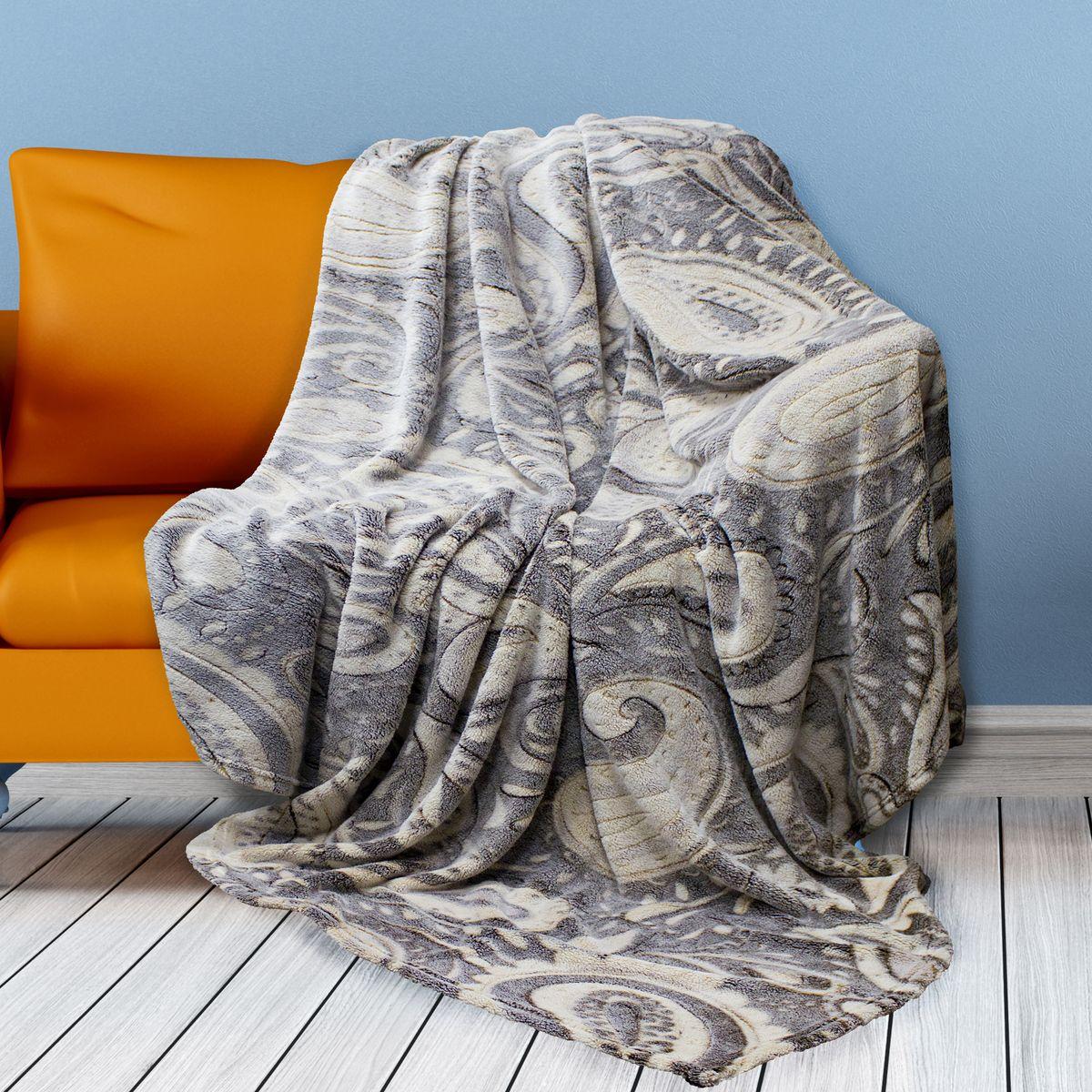 Плед Buenas Noches Bamboo, цвет: серый, бежевый, 200 см х 220 см65811Плед Buenas Noches Bamboo - идеальное решение для вашего интерьера! Изделие декорировано оригинальным орнаментом. Станьте дизайнером и создайте свой стиль! Buenas Noches - элегантно, стильно, качественно! Плед - легкий и нежный, приятный для кожи, на ощупь практически невозможно отличить от бамбукового волокна. Плед, изготовленный из микрофибры (полиэстера), обладает уникальными свойствами: быстро высыхает после стирки, экологически чистый, гипоаллергенный, гигиеничный (не поглощает влагу и грязь). Повышенная практичность: не линяет, не электризуется и не мнется, не скатывается, не оставляет после себя волокон, прочный и эластичный, легкий в уходе. Обладает стойкостью к воздействию живых организмов, волокнам не страшна плесень! Плотность плетения ткани: 280 г/м2.