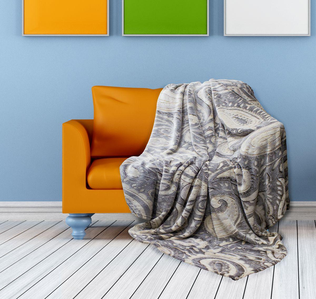 Плед Buenas Noches Bamboo, цвет: серый, бежевый, 150 х 200 см. 6953769537Плед Buenas Noches Bamboo - идеальное решение для вашего интерьера. Он порадует вас легкостью, нежностью и оригинальным дизайном. Плед выполнен из 100% полиэстера и декорирован оригинальным орнаментом. Полиэстер считается одной из самых популярных тканей. Это материал синтетического происхождения из полиэфирных волокон. Изделия из полиэстера не мнутся и легко стираются. После стирки очень быстро высыхают. Плед - это такой подарок, который будет всегда актуален, особенно для ваших родных и близких, ведь вы дарите им частичку своего тепла!