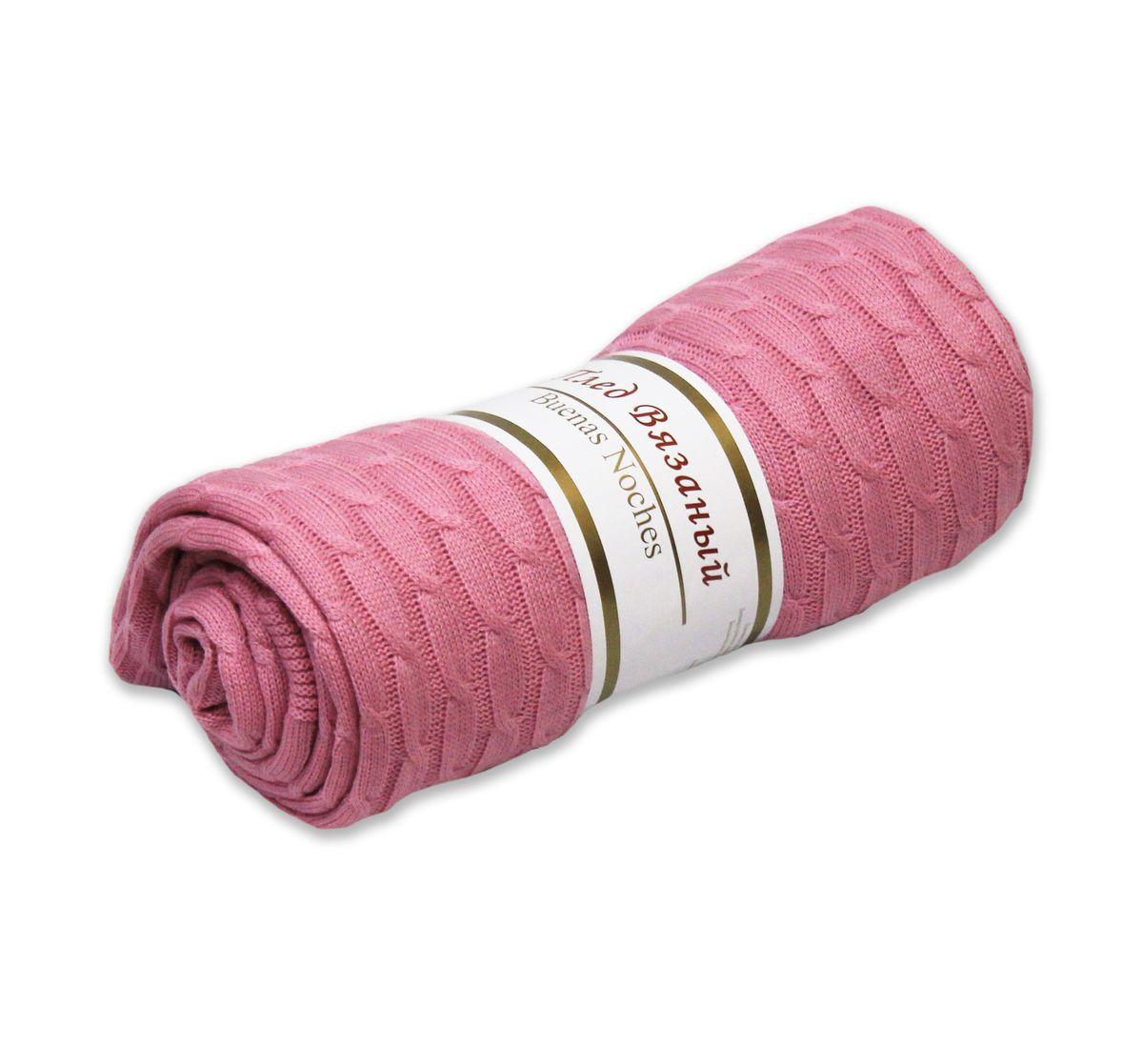 Плед вязаный Buenas Noches Manhattan, цвет: розовый, 180 х 200 см74376Вязаный плед Buenas Noches Manhattan - идеальное решение для вашего интерьера. Плед изготовлен из 100% акрила - современного высококачественного материала, который обладает замечательными свойствами. Изделия из акрила прекрасно сохраняют форму, не деформируются, не мнутся, всегда выглядят аккуратно, сохраняют размер и привлекательный внешний вид долгое время. Акрил идеален при использовании под открытым небом, так как обладает свойством водоотталкивания и быстро высыхает. Материал гипоаллергенный, безопасный, стойкий к воздействию живых организмов, волокнам не страшна плесень. Плед мягкий, приятный на ощупь, великолепный на вид, он обладает низкой теплопроводностью, замечательно сохраняет тепло. Беспрецедентная стойкость и ровность красок позволит пледу не выгореть на солнце и остаться первозданно ярким в течение продолжительного времени. Продукция Buenas Noches сделана с особой заботой, специально для вас и уюта в вашем доме! Рекомендации по уходу: -...
