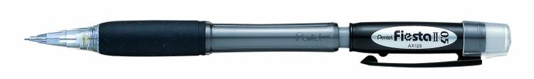 Карандаш авт. FIESTA II черный корпус 0.5 мм в блистереPAX125-AКарандаш автоматический Fiesta II с мягкой зоной захвата. Диаметр грифеля - 0.5 мм. Удобные для продолжительной работы карандаши. с мягкой зоной захвата.; резиновый упор ;
