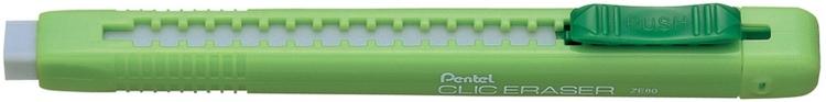 Ластик-карандаш CLIC ERASER ярк.корпус, салатовыйPZE80KМягкий выдвижной ластик в матовом ярком корпусе. Материал:каучук выдвижной
