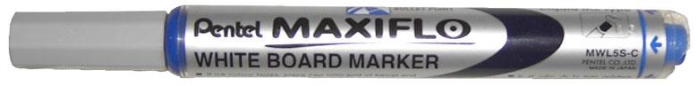 Маркер для досок синий 4.0 мм,с жидкими чернилами и кнопкой подкачки чернил MAXIFLO