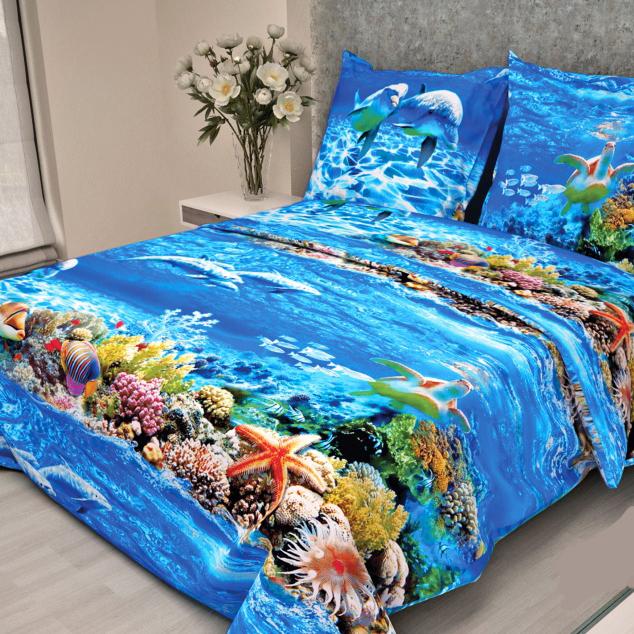 Комплект белья Letto, 1,5-спальный, наволочки 70х70, цвет: синий, голубой. В-52-3В-52-3Комплект постельного белья Letto Традиция выполнен из бязи (100% натурального хлопка). Комплект состоит из пододеяльника, простыни и двух наволочек. Постельное белье оформлено оригинальным изображением подводного мира и имеет изысканный внешний вид. Гладкая структура делает ткань приятной на ощупь, мягкой и нежной, при этом она прочная и хорошо сохраняет форму. Ткань легко гладится. Благодаря такому комплекту постельного белья вы сможете создать атмосферу роскоши и романтики в вашей спальне.