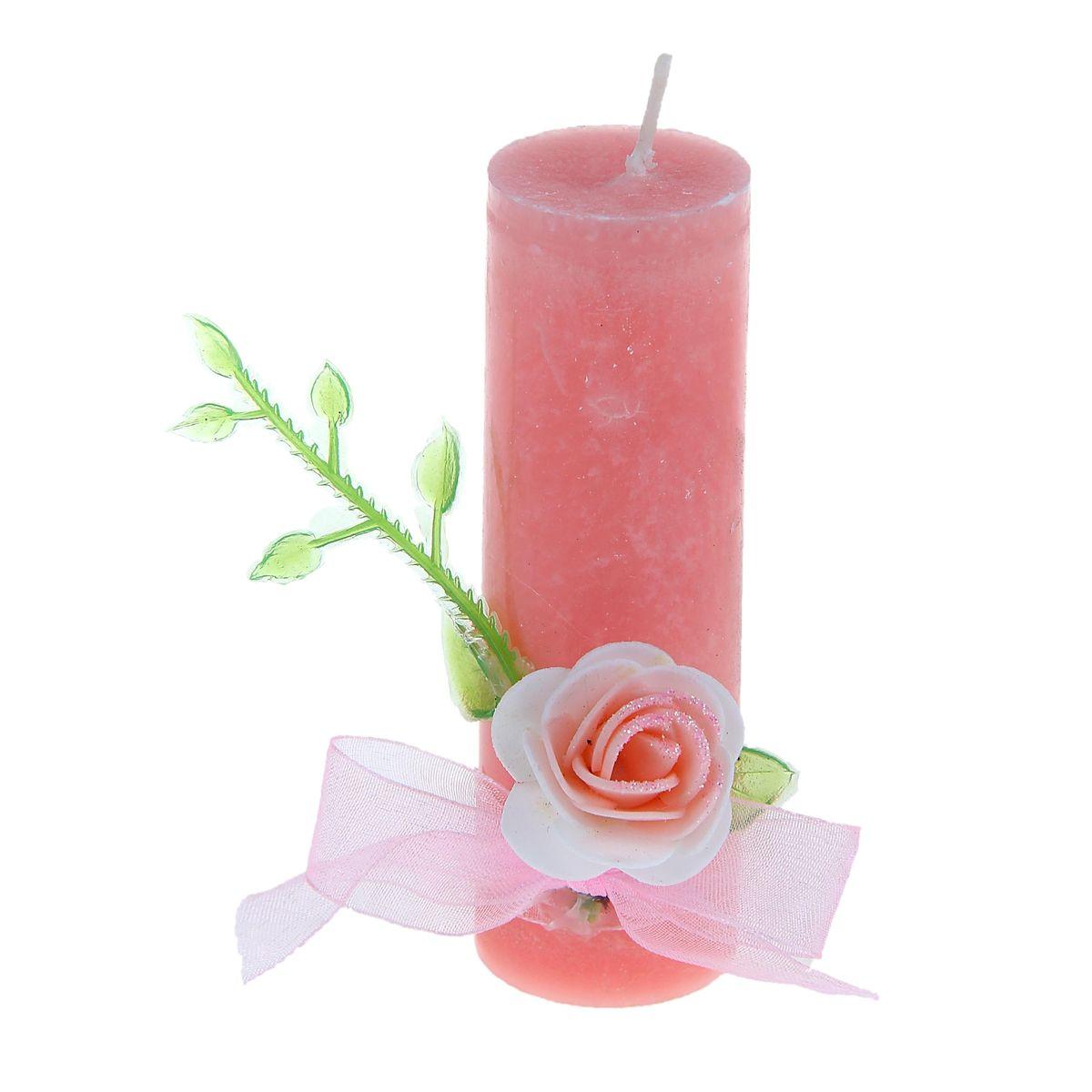 Свеча Sima-land Цветок, цвет: розовый, высота 10,5 см1030854Свеча Sima-land Цветок выполнена из воска в виде столбика и оформлена цветочным декором. Изделие порадует ярким дизайном и оригинальностью. Создайте для себя и своих близких незабываемую атмосферу праздника в доме. Свеча Sima-land Цветок может стать не только отличным подарком, но и гарантией хорошего настроения, ведь это красивая вещь из качественного, безопасного для здоровья материала.