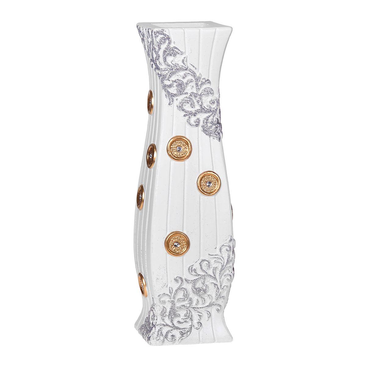Ваза керамика напольная 60 см пуговица белая 10449601044960Керамика