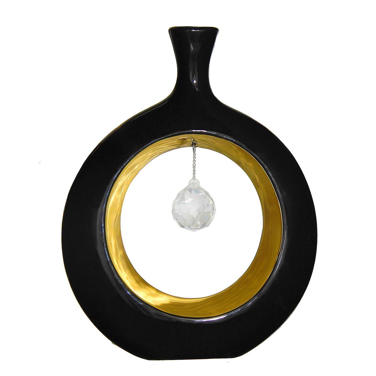 Ваза Sima-land Кристалл. Яблоко, высота 27 см1046142Ваза Sima-land Кристалл. Яблоко, изготовленная из высококачественной керамики, декорирована стеклянным шариком на металлической подвеске. Ваза имеет оригинальную форму в виде яблока и оснащена антискользящими вставками на основании. Изделие предназначено для искусственных цветов. Такая изящная ваза с легкостью впишется практически в любой интерьер. Она станет изумительным подарком, который доставит радость, ведь это не только красивый, но еще и функциональный презент.
