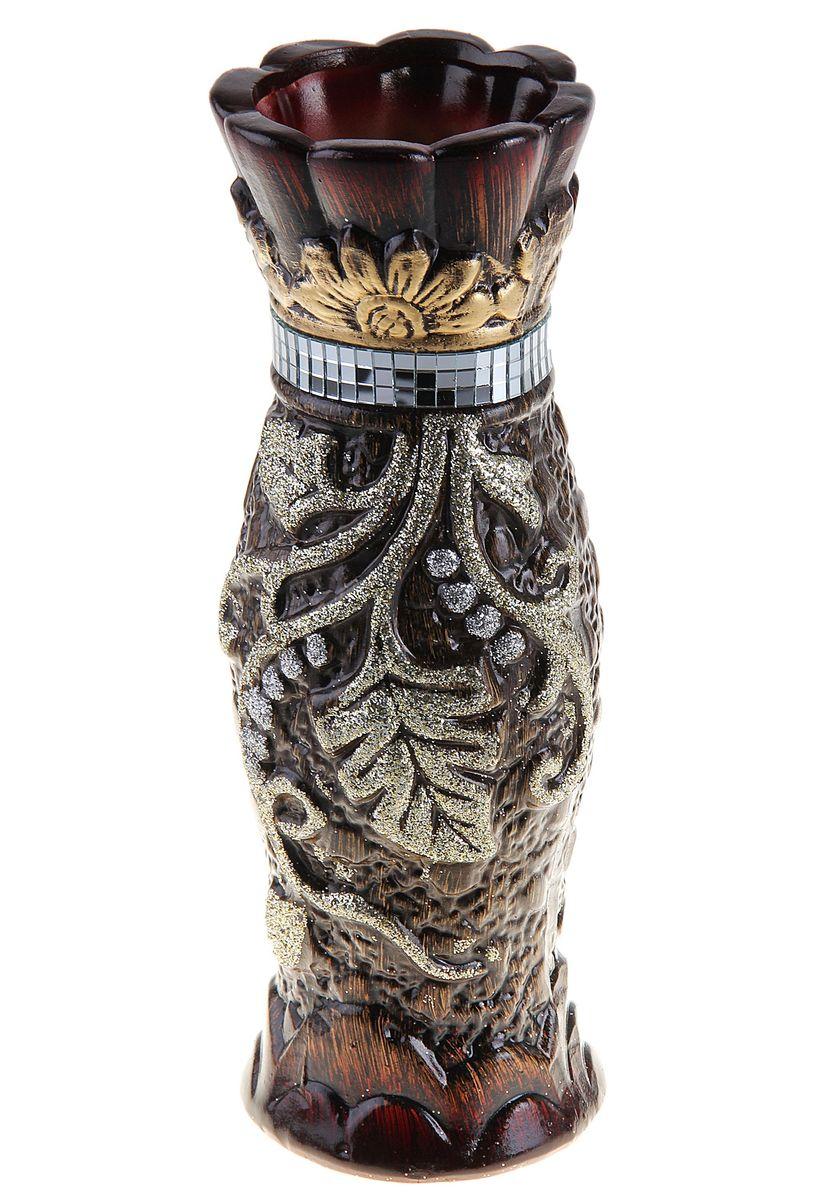 Ваза керамическая 30 см горло опояс (ассорти) коричневая 119437119437Керамика