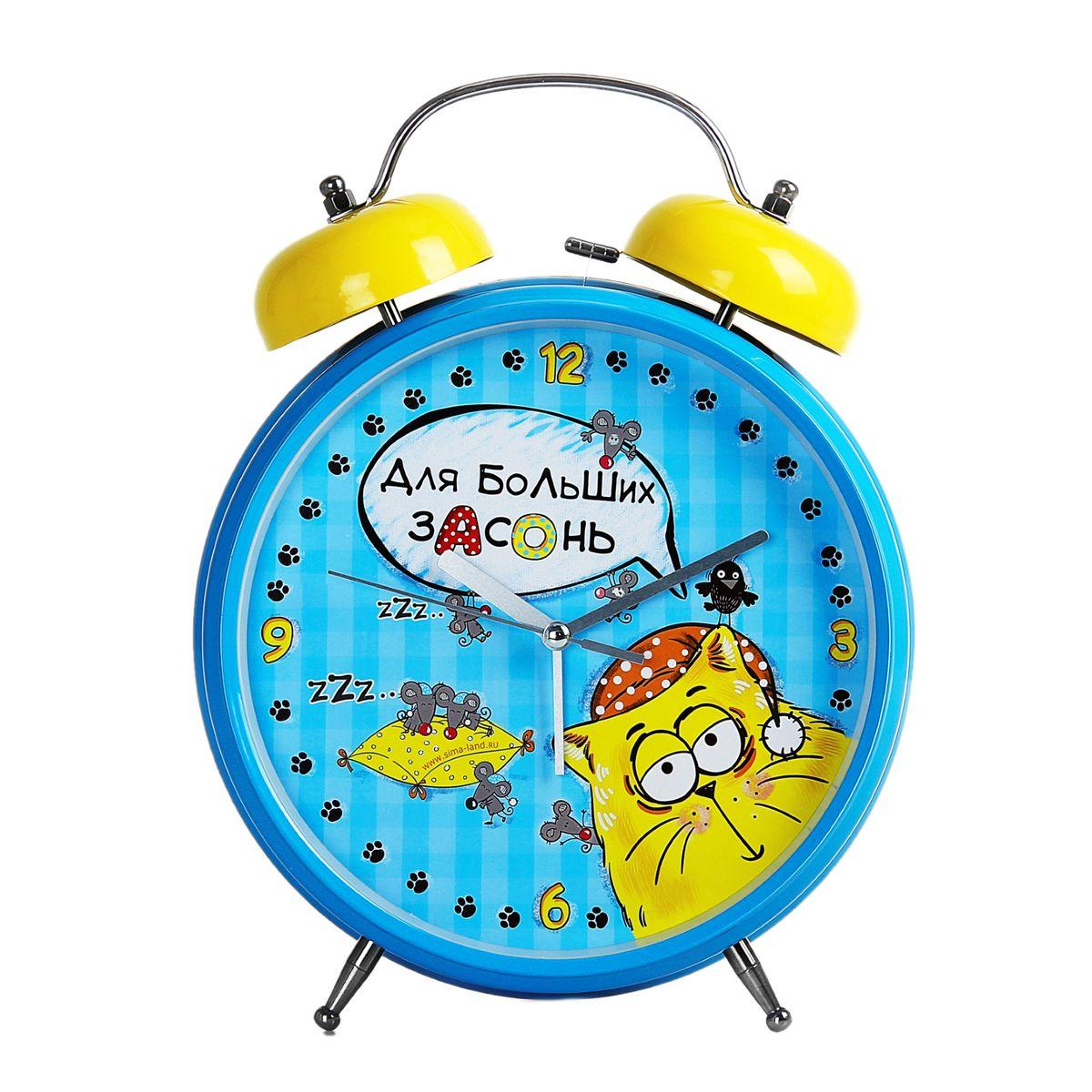 Часы-будильник Sima-land Для больших засонь150670Как же сложно иногда вставать вовремя! Всегда так хочется поспать еще хотя бы 5 минут и бывает, что мы просыпаем. Теперь этого не случится! Яркий, оригинальный будильник Sima-land Для больших засонь поможет вам всегда вставать в нужное время и успевать везде и всюду. Будильник украсит вашу комнату и приведет в восхищение друзей. Время показывает точно и будит в установленный час. Будильник невероятных размеров создан специально для тех, кого ранним утром не берут ни огонь, ни вода, ни медные трубы! Это гигант среди будильников. Его звук соответствует размеру - громкий и звонкий и не оставляет никому шансов проспать. На задней панели будильника расположены переключатель включения/выключения механизма, а также два колесика для настройки текущего времени и времени звонка будильника. Также будильник оснащен кнопкой, при нажатии и удержании которой, подсвечивается циферблат. Будильник работает от 2 батареек типа AA напряжением 1,5V (не...