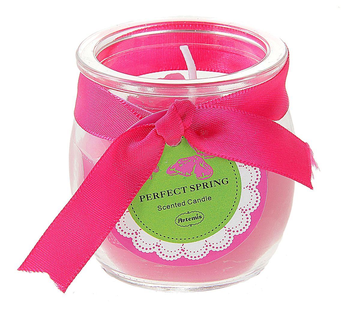 Свеча ароматизированная Sima-land Бочонок, цвет: розовый, высота 5,5 см167178Декоративная свеча Sima-land Бочонок изготовлена из воска и расположена в стеклянном стакане. Изделие отличается оригинальным дизайном и приятным цветочным ароматом. Такая свеча может стать отличным подарком или дополнить интерьер вашей комнаты.