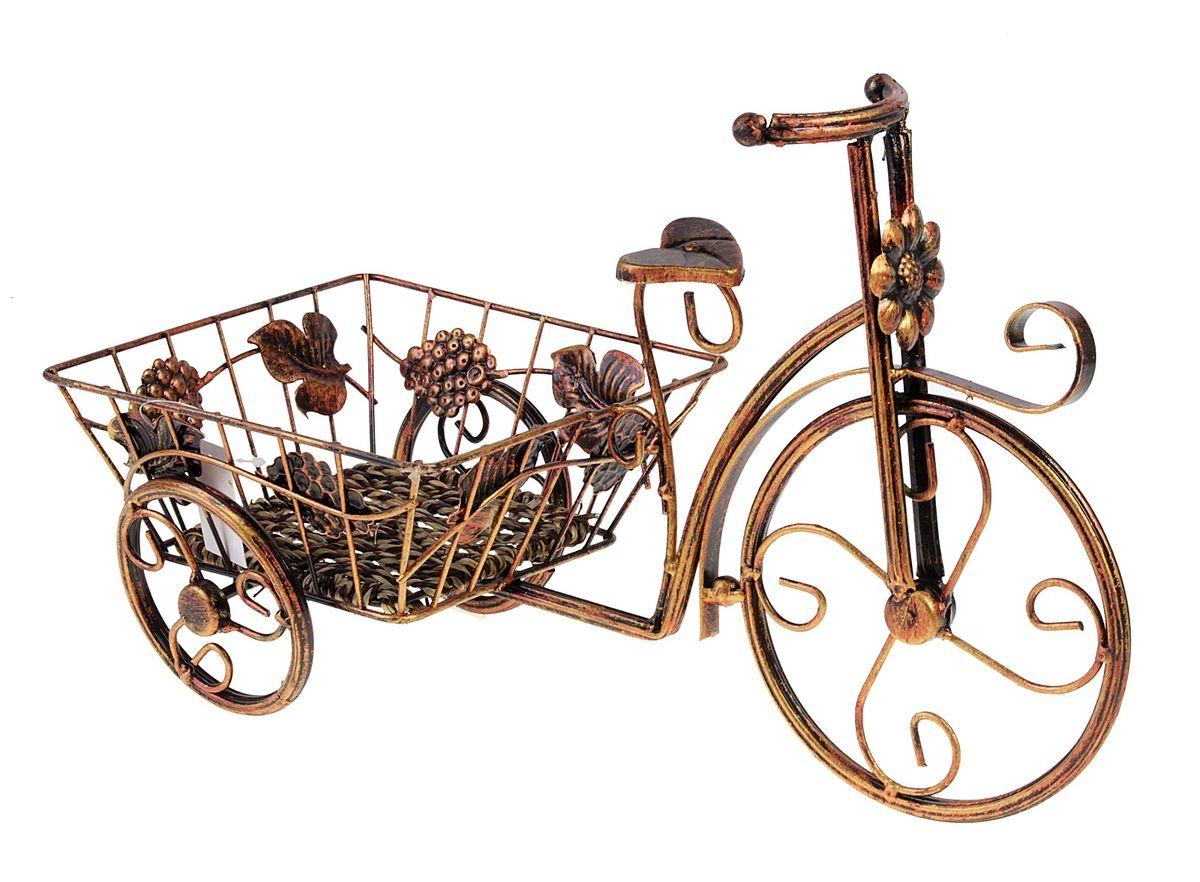 подставка д/цветов велосипед 42*26 см 588896588896Металл,пластик