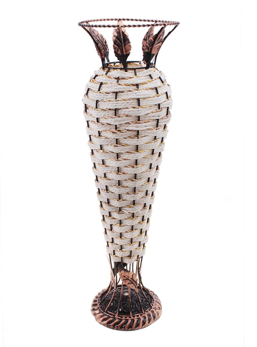 Ваза плетеная Sima-land Амфора, высота 57 см656150Ваза Sima-land Амфора выполнена из металла и дополнена оригинальным плетением. Изделие имеет необычную форму и украшено металлическими листьями. Ваза предназначена для сухих или искусственных цветов и растений. Красивый блеск и необычное оформление сделают эту вазу замечательным украшением интерьера. Любое помещение выглядит незавершенным без правильно расположенных предметов интерьера. Они помогают создать уют, расставить акценты, подчеркнуть достоинства или скрыть недостатки. Диаметр по верхнему краю: 15 см.