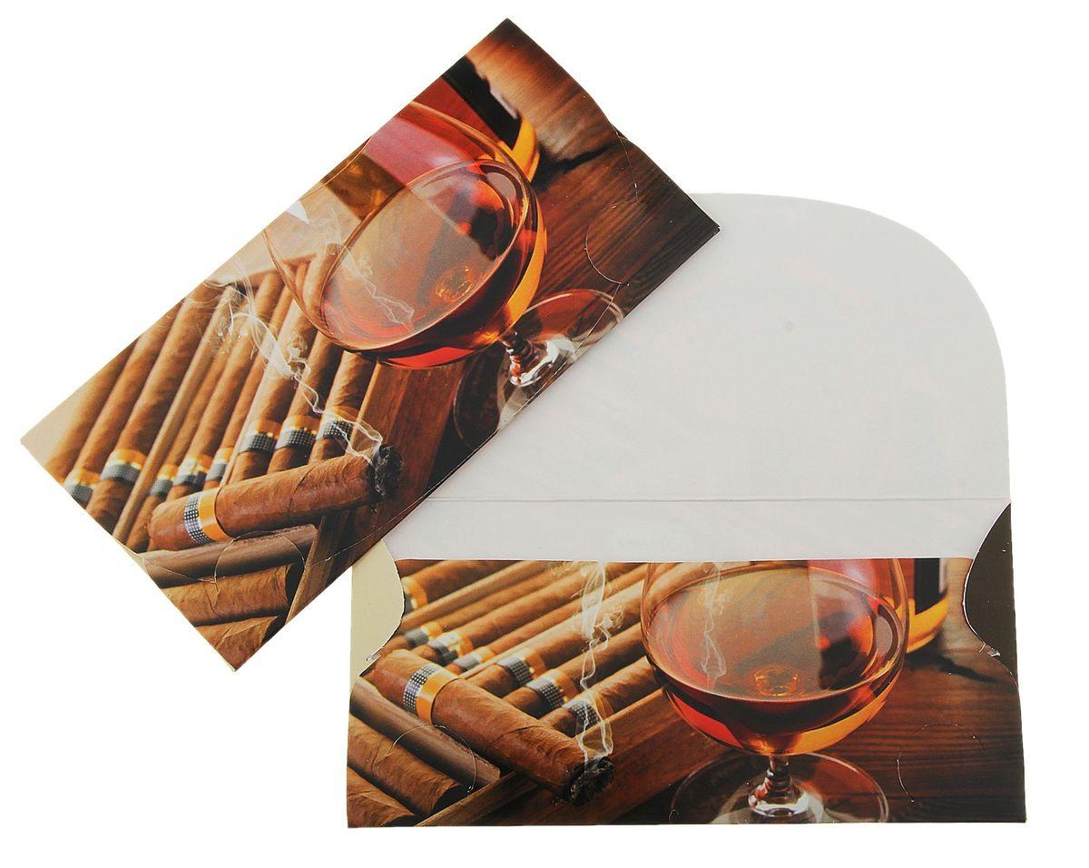Конверт для денег Мужской. 789331789331Конверт для денег Мужской выполнен из картона и украшен яркой картинкой. Это необычная красивая одежка для денежного подарка, а также отличная возможность сделать его более праздничным и создать прекрасное настроение!