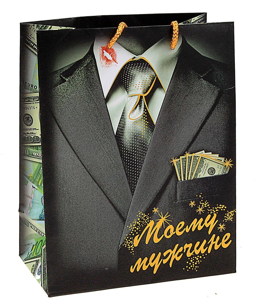 Пакет подарочный Sima-land Моему мужчине, 23 х 18 х 10 см818572Подарочный пакет Моему мужчине, изготовленный из плотной бумаги, станет незаменимым дополнением к выбранному подарку. Дно изделия укреплено плотным картоном, который позволяет сохранить форму и исключает возможность деформации дна под тяжестью подарка. Для удобной переноски имеются две ручки из шнурков. Подарок, преподнесенный в оригинальной упаковке, всегда будет самым эффектным и запоминающимся. Окружите близких людей вниманием и заботой, вручив презент в нарядном, праздничном оформлении.