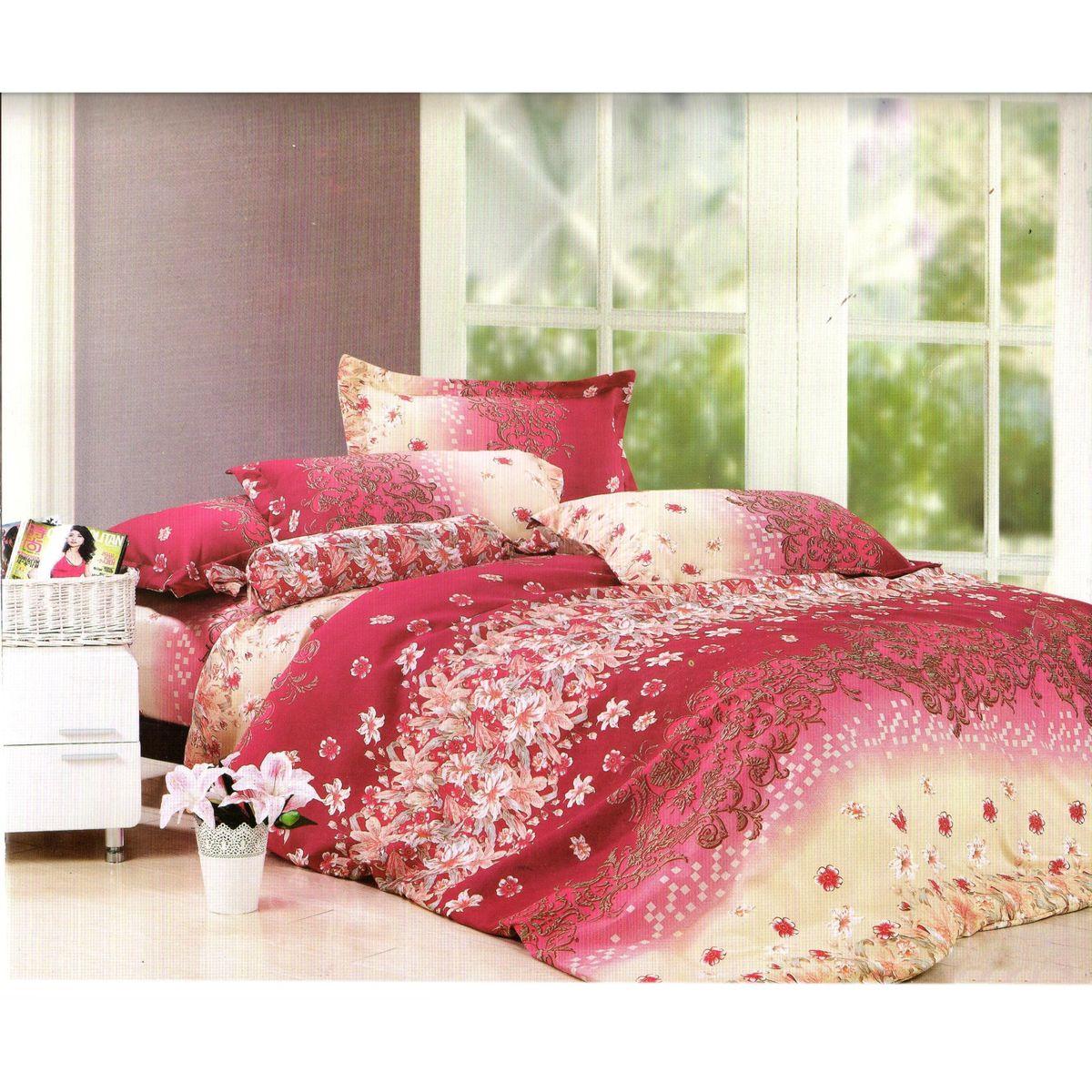 Комплект белья Этель Настроение, 1,5-спальный, наволочки 70x70, цвет: бордовый, розовый, белый824950Комплект постельного белья Этель Настроение состоит из пододеяльника на молнии, простыни и двух наволочек. Удивительной красоты рисунок, нанесенный на белье, сочетает в себе нежность и теплоту. Постельное белье Этель Настроение создано для романтичных натур, которые любят изысканный дизайн. Белье изготовлено из поликоттона отвечающего всем необходимым нормативным стандартам. Поликоттон - это ткань из экологически чистых материалов (50% хлопка, 50% полиэстера). Неоспоримым плюсом белья из такой ткани является мягкость и легкость, она прекрасно пропускает воздух, приятна на ощупь, не образует катышков на поверхности и за ней легко ухаживать. При соблюдении рекомендаций по уходу, это белье выдерживает много стирок, не линяет и не теряет свою первоначальную прочность. Уникальная ткань обеспечивает легкую глажку. Приобретая комплект постельного белья Этель Настроение, вы можете быть уверенны в том, что покупка доставит вам и вашим...