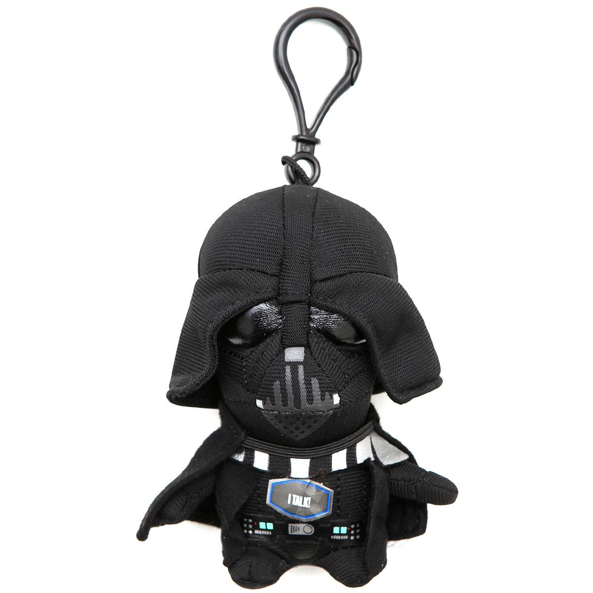 Star Wars Брелок Дарт Вейдер 00231J00231JОчаровательная мягкая игрушка-брелок Star Wars Дарт Вейдер приведет в восторг любого поклонника Звездных войн. Брелок выполнен из текстильного материала в виде любимого персонажа - темного лорда. Пластиковый карабин позволит закрепить брелок на рюкзаке или сумке или повесить над рабочим столом. Сожмите игрушку - вы услышите зловещее дыхание Дарта Вейдера, а также его известные фразы на английском языке. Прекрасное качество исполнения делают этот брелок чудесным подарком истинному поклоннику Звездных войн. Порадуйте своего ребенка! Игрушка работает от 3-х незаменяемых батареек напряжением 1,5V типа AG10/LR1130.