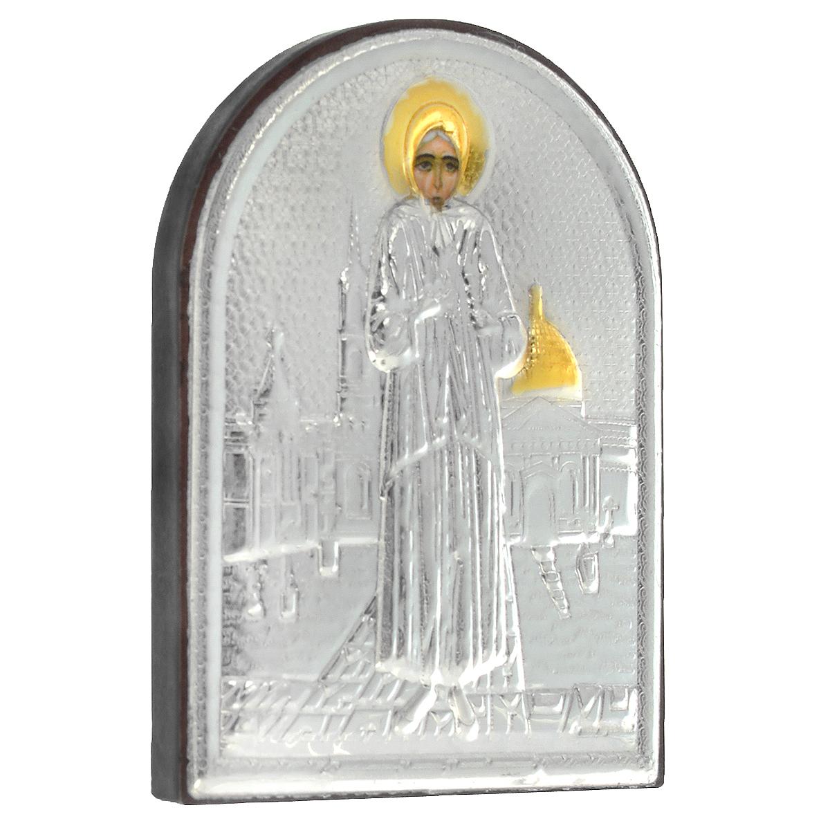 Икона Блаженной Ксении Петербургской, 5,5 см х 4 см