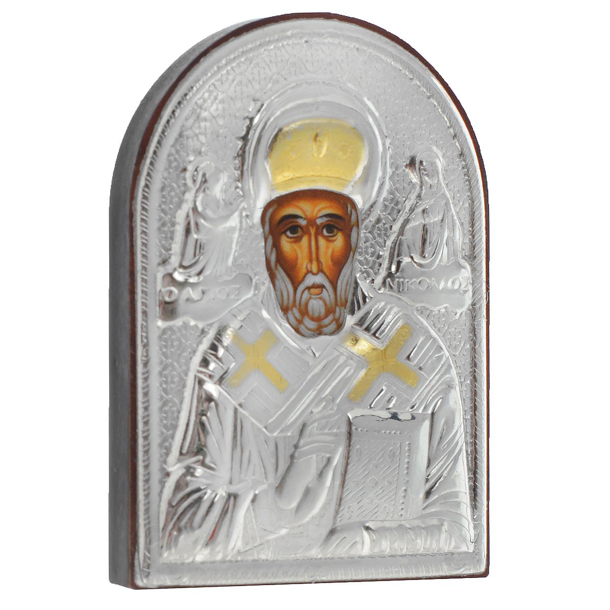 Икона Святителя Николая Чудотворца, 5,5 см х 4 см