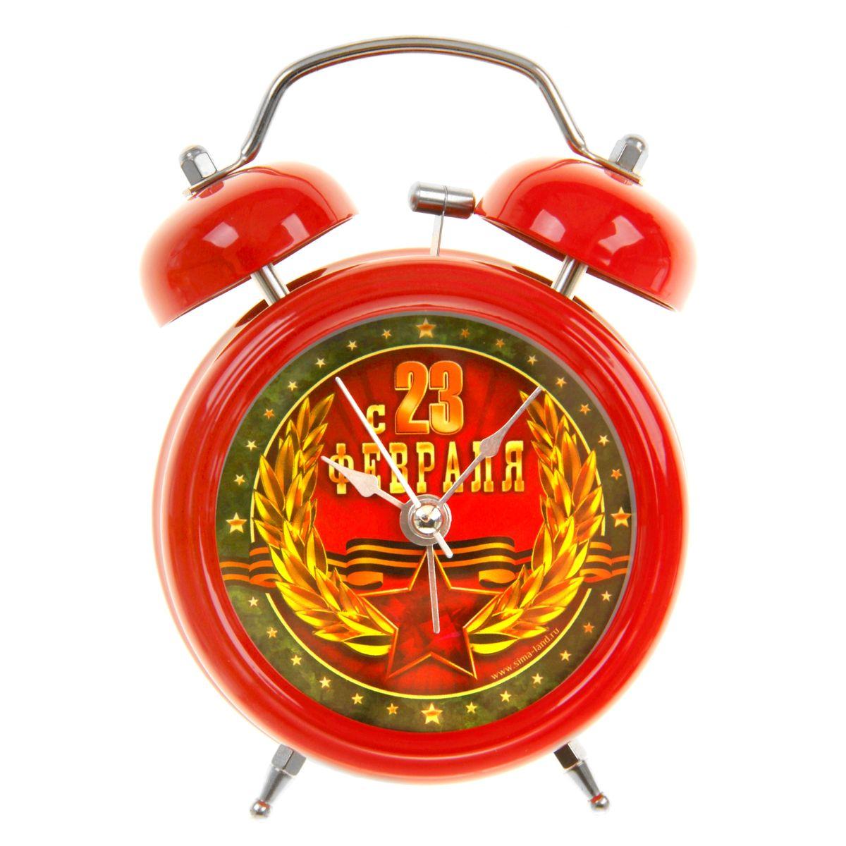 Часы-будильник Sima-land С 23 февраля. 839673839673Как же сложно иногда вставать вовремя! Всегда так хочется поспать еще хотя бы 5 минут и бывает, что мы просыпаем. Теперь этого не случится! Яркий, оригинальный будильник Sima-land С 23 февраля поможет вам всегда вставать в нужное время и успевать везде и всюду. Время показывает точно и будит в установленный час. Такой будильник станет прекрасным подарком. На задней панели будильника расположены переключатель включения/выключения механизма, а также два колесика для настройки текущего времени и времени звонка будильника. Также будильник оснащен кнопкой, при нажатии и удержании которой, подсвечивается циферблат. Будильник работает от 1 батарейки типа AA напряжением 1,5V (не входит в комплект).