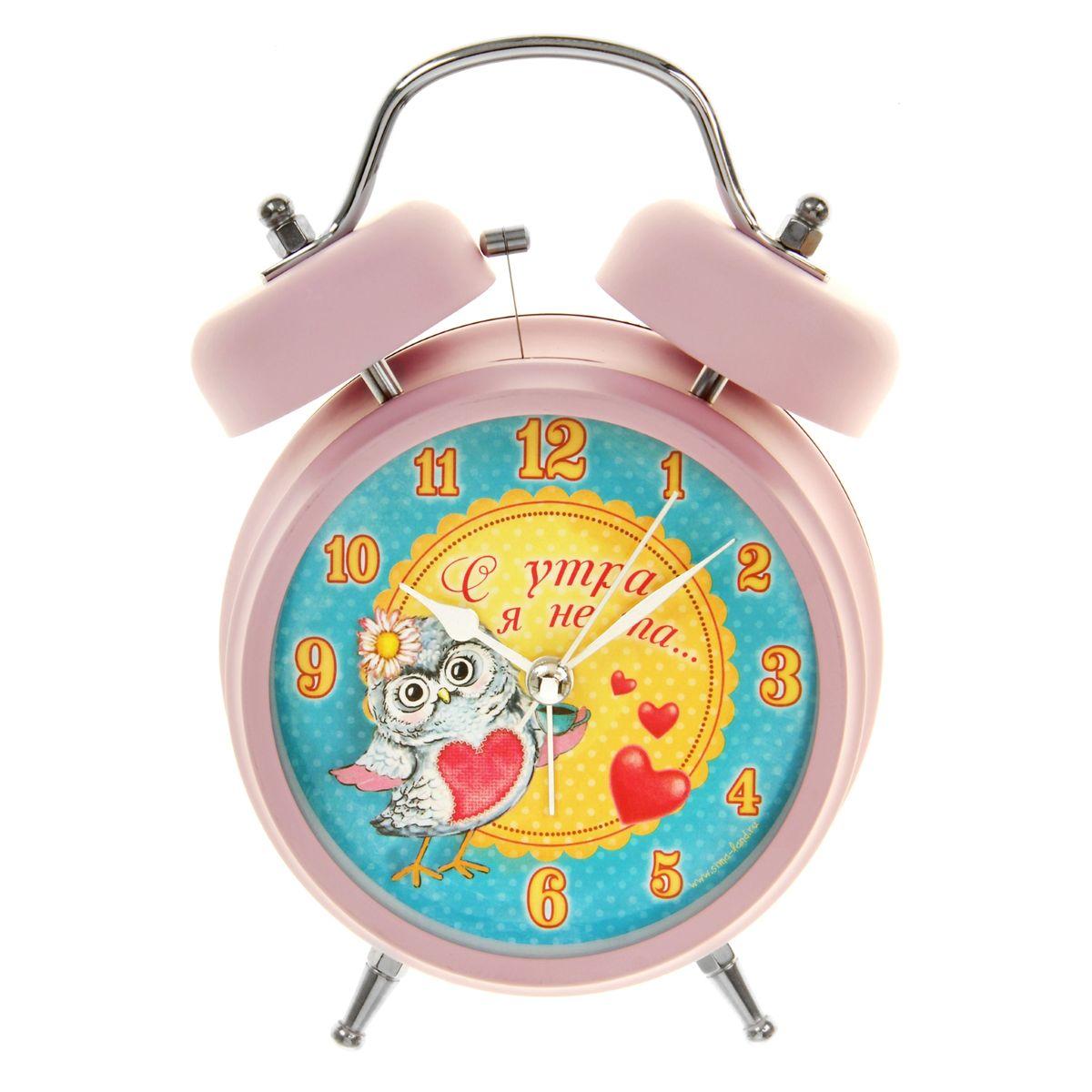 Часы-будильник Sima-land С утра я не та...839682Как же сложно иногда вставать вовремя! Всегда так хочется поспать еще хотя бы 5 минут и бывает, что мы просыпаем. Теперь этого не случится! Яркий, оригинальный будильник Sima-land С утра я не та... поможет вам всегда вставать в нужное время и успевать везде и всюду. Корпус будильника выполнен из металла. Циферблат оформлен изображением совы и надписью: С утра я не та..., имеет индикацию арабскими цифрами. Часы снабжены 4 стрелками (секундная, минутная, часовая и для будильника). На задней панели будильника расположен переключатель включения/выключения механизма, а также два колесика для настройки текущего времени и времени звонка будильника. Пользоваться будильником очень легко: нужно всего лишь поставить батарейки, настроить точное время и установить время звонка. Необходимо докупить 2 батарейки типа АА напряжением 1,5V (не входят в комплект).