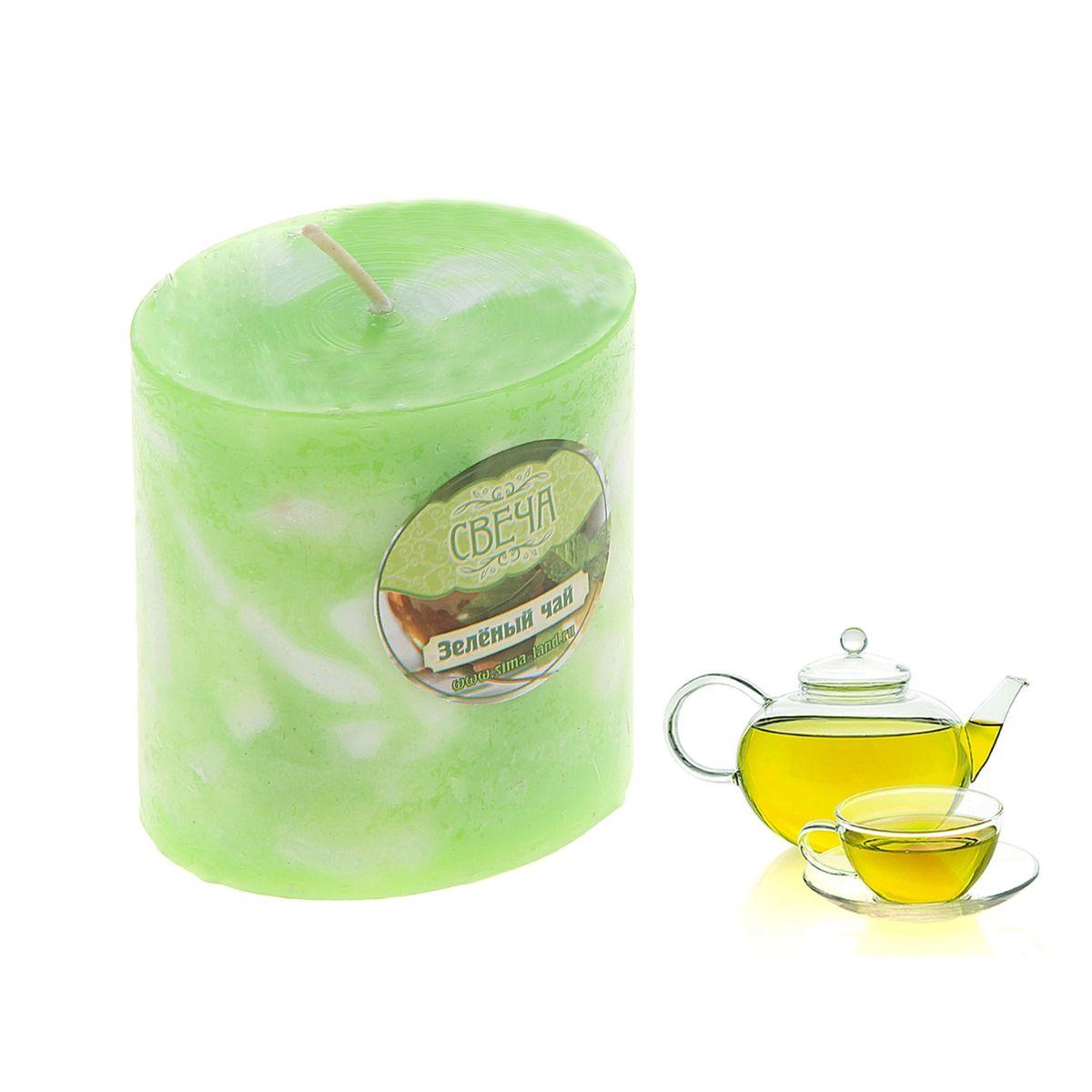 Свеча ароматизированная Sima-land Слияние, с ароматом зеленого чая, цвет: салатовый, белый, высота 7 см849520Ароматизированная свеча Sima-land Слияние изготовлена из воска. Изделие отличается оригинальным дизайном и приятным ароматом зеленого чая. Свеча Sima-land Слияние - это прекрасный выбор для тех, кто хочет сделать запоминающийся презент родным и близким. Она поможет создать атмосферу праздника. Такой подарок запомнится надолго.