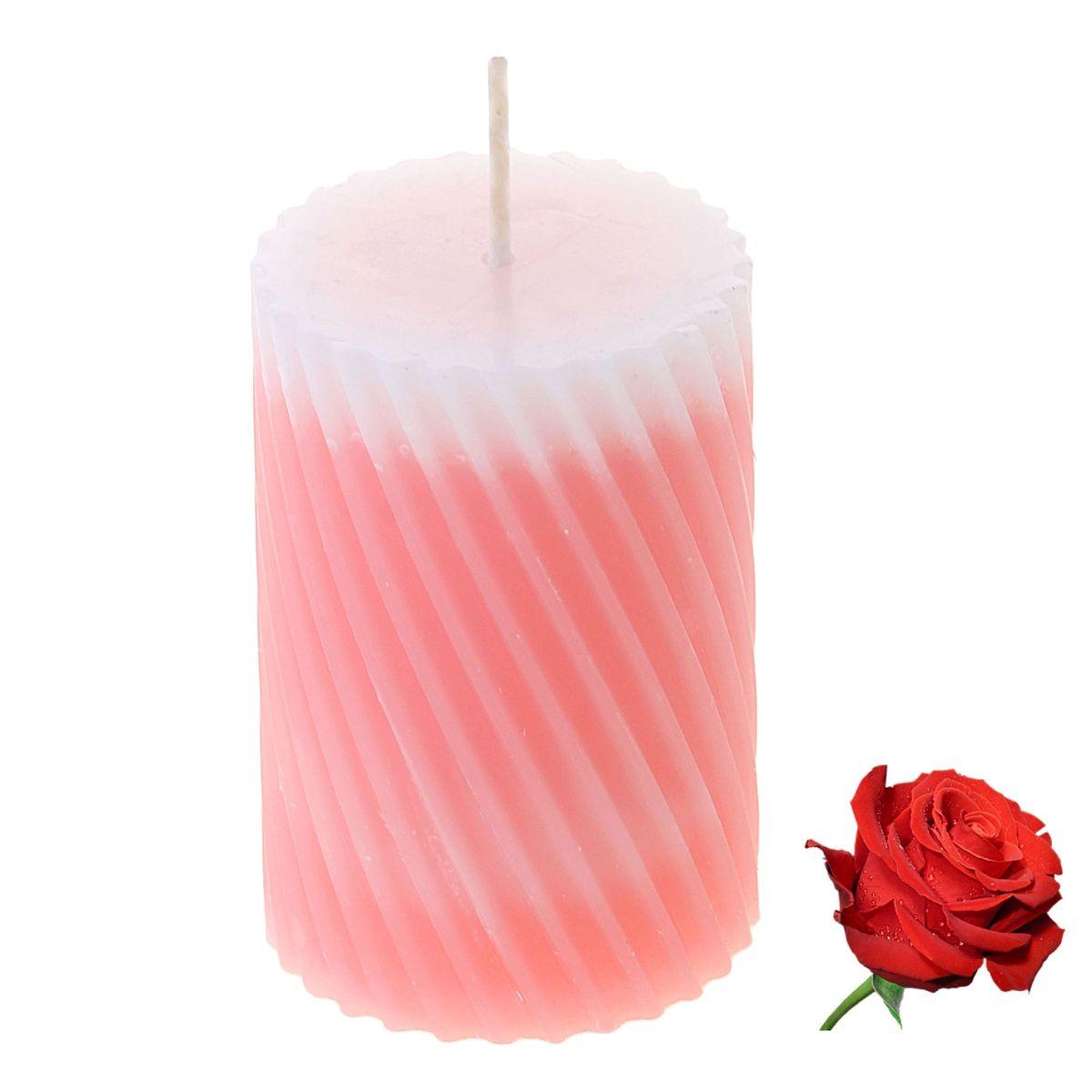 Свеча ароматизированная Sima-land Роза, высота 7,5 см. 849540849540Свеча Sima-land Роза выполнена из воска и оформлена резным рельефом. Свеча порадует ярким дизайном и нежным ароматом розы, который понравится как женщинам, так и мужчинам. Создайте для себя и своих близких незабываемую атмосферу праздника в доме. Ароматическая свеча Sima-land Роза раскрасит серые будни яркими красками.
