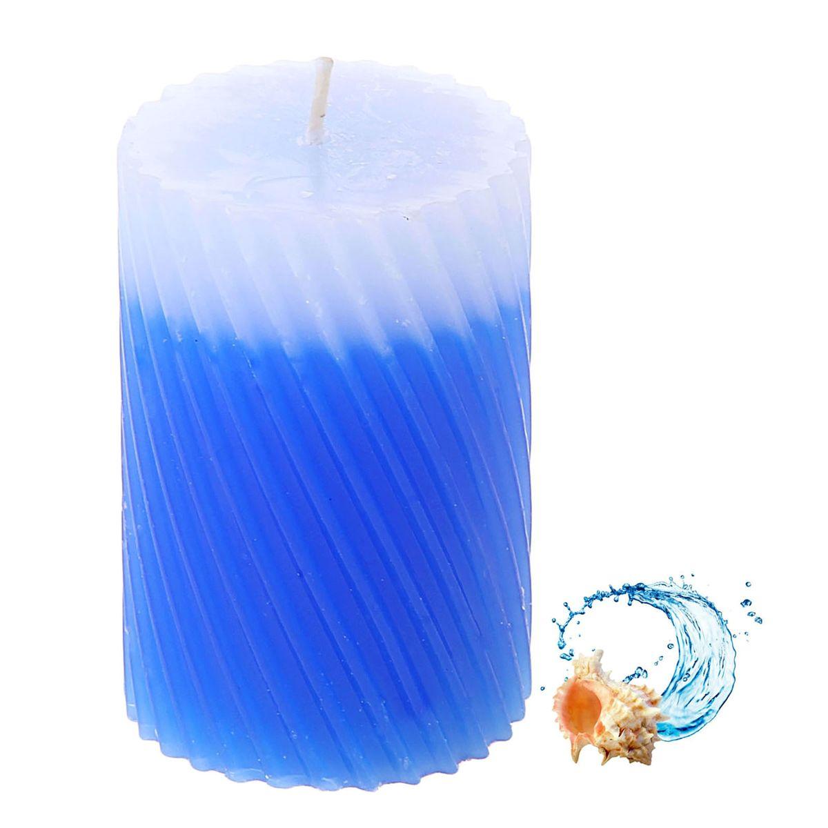 Свеча ароматизированная Sima-land Океан, высота 7,5 см. 849548849548Свеча Sima-land Океан выполнена из воска и оформлена резным рельефом. Свеча порадует ярким дизайном и приятным морским ароматом, который понравится как женщинам, так и мужчинам. Создайте для себя и своих близких незабываемую атмосферу праздника в доме. Ароматическая свеча Sima-land Океан раскрасит серые будни яркими красками.