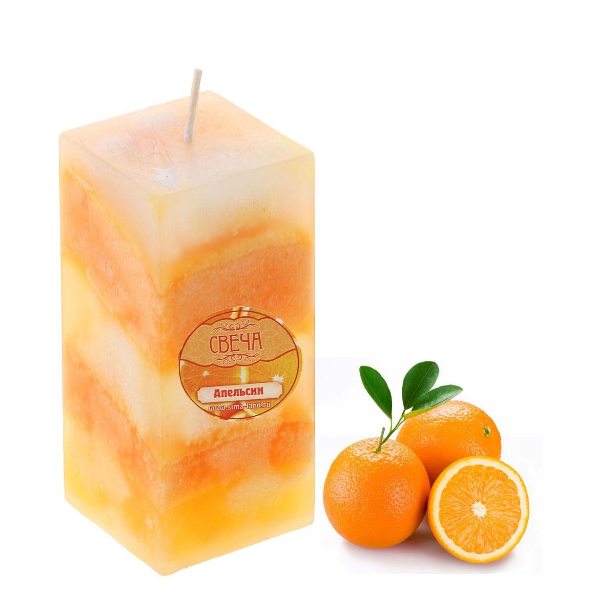 Свеча ароматизированная Sima-land Апельсин, высота 10 см849584Свеча ароматизированная Sima-land Апельсин выполнена из воска. Свеча отличается ярким дизайном, который понравится как женщинам, так и мужчинам. Создайте для себя и своих близких не забываемую атмосферу праздника и уюта в доме. Свеча Sima-land Апельсин будет радовать ароматом апельсина и раскрасит серые будни яркими красками.