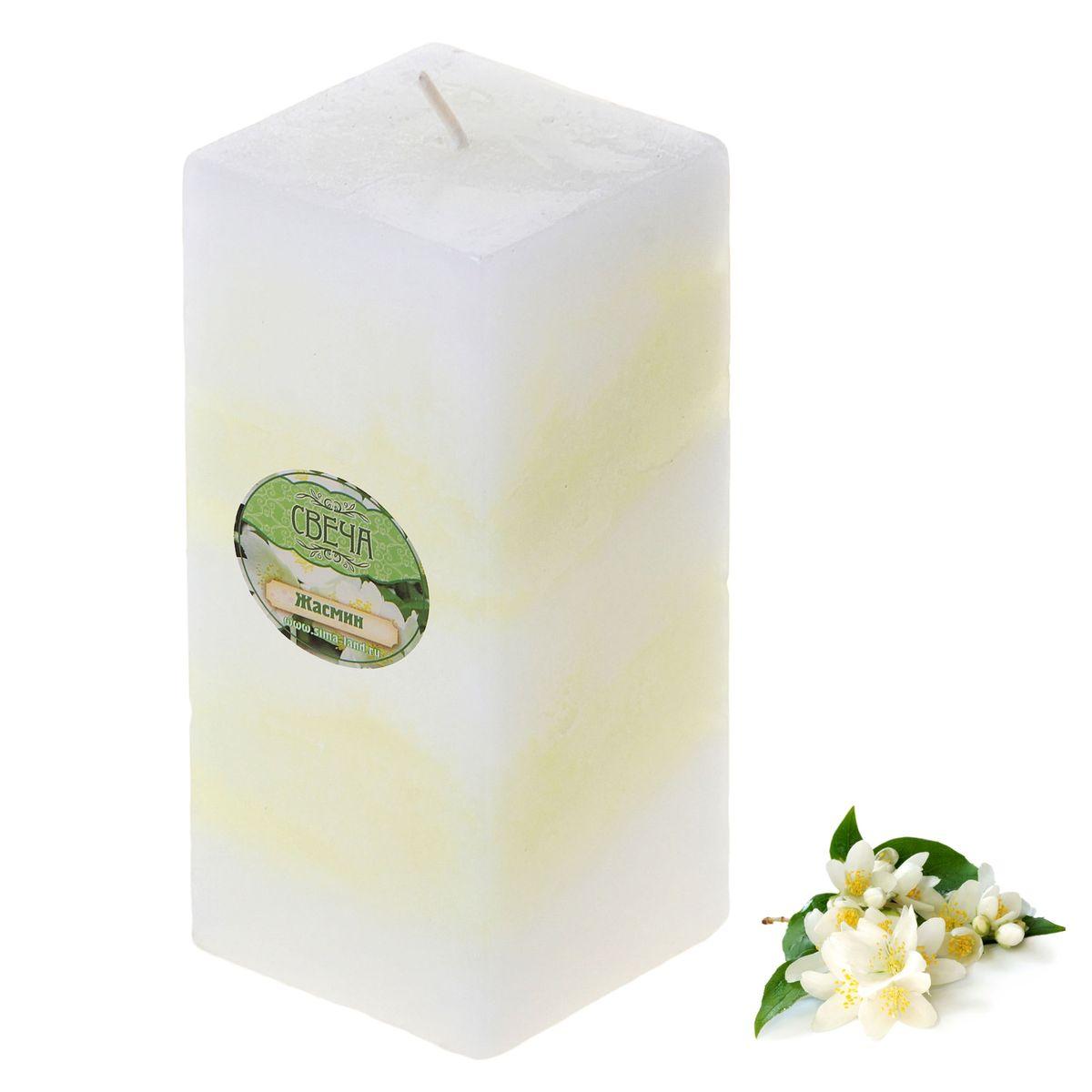 Свеча ароматизированная Sima-land Жасмин, высота 10 см849592Свеча ароматизированная Sima-land Жасмин выполнена из воска и оформлена в виде столбика. Свеча отличается ярким дизайном, который понравится как женщинам, так и мужчинам. Создайте для себя и своих близких не забываемую атмосферу праздника и уюта в доме. Свеча Sima-land будет радовать нежным ароматом цветков жасмина и раскрасит серые будни яркими красками.