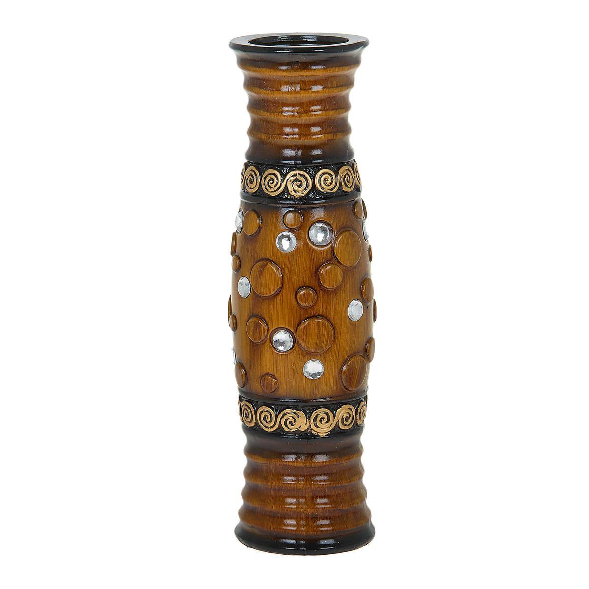 Ваза напольная Мыльные пузыри, цвет: коричневый, высота 60 см. 851264851264Керамика