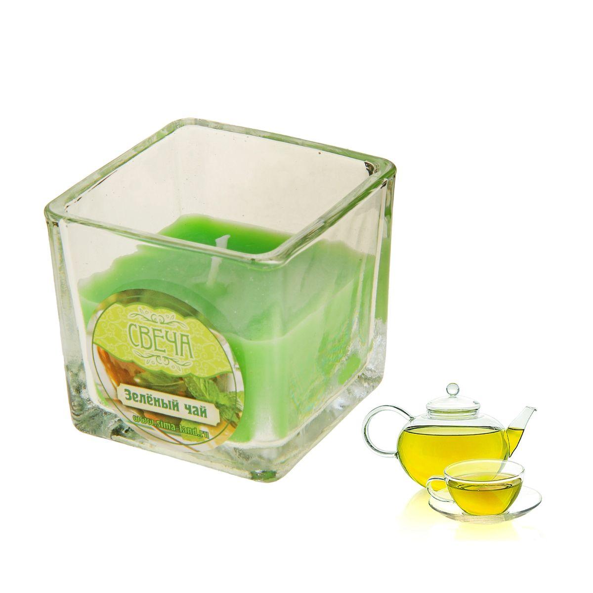 Свеча ароматизированная Sima-land Зеленый чай, высота 5 см853459Ароматизированная свеча Sima-land Зеленый чай изготовлена из воска и расположена в стеклянном стакане. Изделие отличается оригинальным дизайном и приятным ароматом. Такая свеча может стать отличным подарком или создаст незабываемую атмосферу праздника в вашем доме.