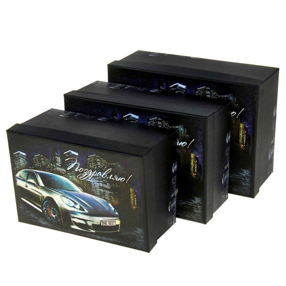 Набор подарочных коробок Sima-land Поздравляю!, 3 шт862368Набор Sima-land Поздравляю! состоит из 3 подарочных коробок разного размера, выполненных из плотного картона. Крышка оформлена ярким изображением и надписью Поздравляю!. Подарочная коробка - это наилучшее решение, если вы хотите порадовать ваших близких и создать праздничное настроение, ведь подарок, преподнесенный в оригинальной упаковке, всегда будет самым эффектным и запоминающимся. Окружите близких людей вниманием и заботой, вручив презент в нарядном, праздничном оформлении. Размер большой коробки (с учетом крышки): 18 см х 25 см х 10,5 см. Размер средней коробки (с учетом крышки): 16 см х 23 см х 9,5 см. Размер маленькой коробки (с учетом крышки): 14,5 см х 21 см х 8,5 см.