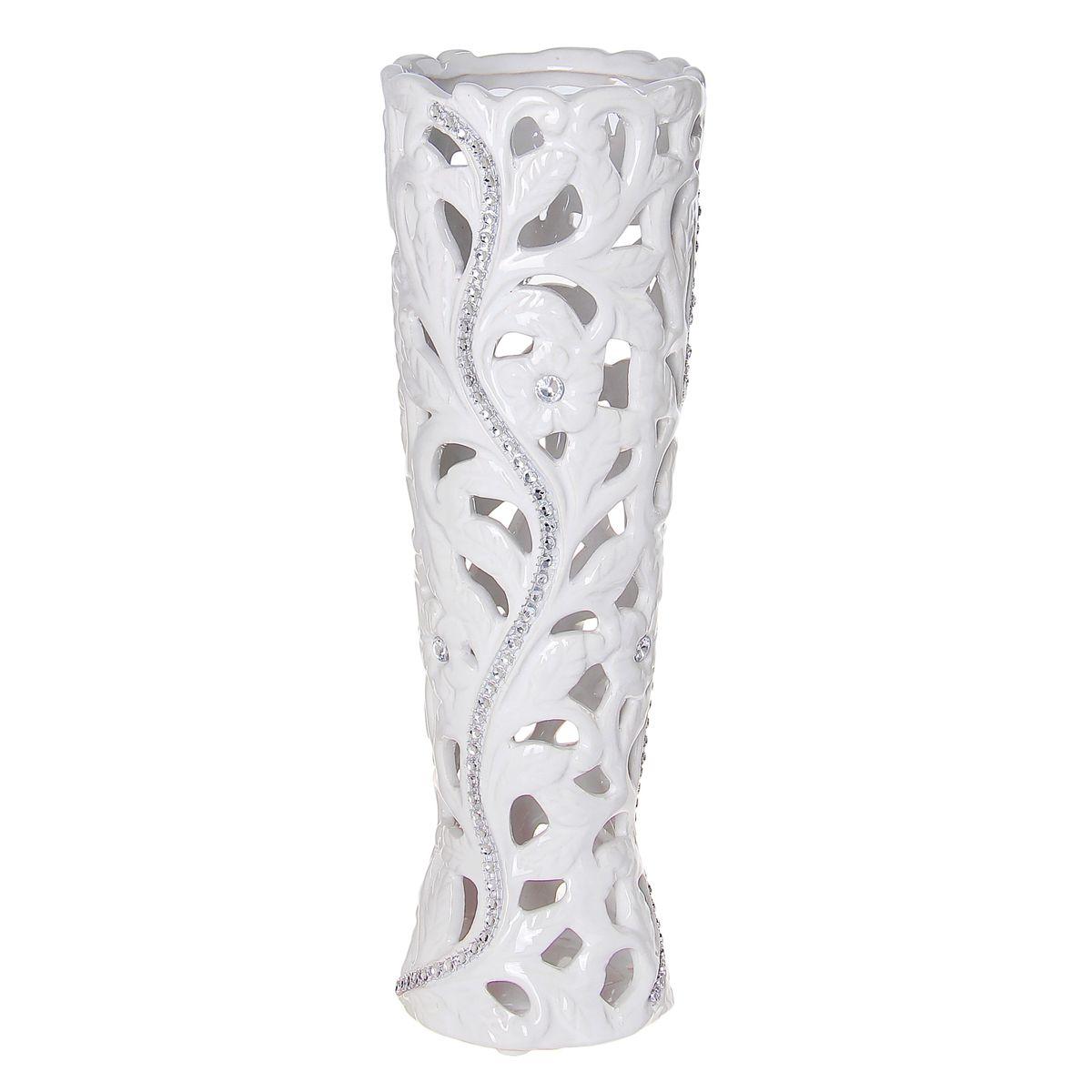 Ваза керамика белое кружево 29,5*10*10 см 866201866201Керамика