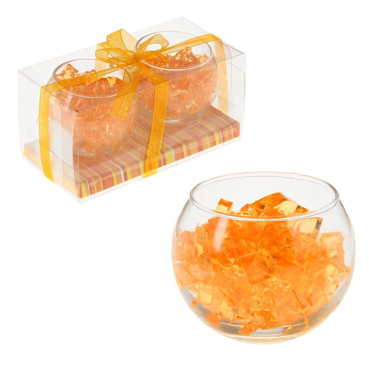 Набор свечей Sima-land Мармелад, цвет: оранжевый, 2 шт895598Набор Sima-land Мармелад, выполненный из геля, состоит из двух декоративных свечей. Свечи расположены в стеклянных бокалах. Изделия порадуют вас своим дизайном. Такой набор может стать отличным подарком или дополнить интерьер вашей комнаты.