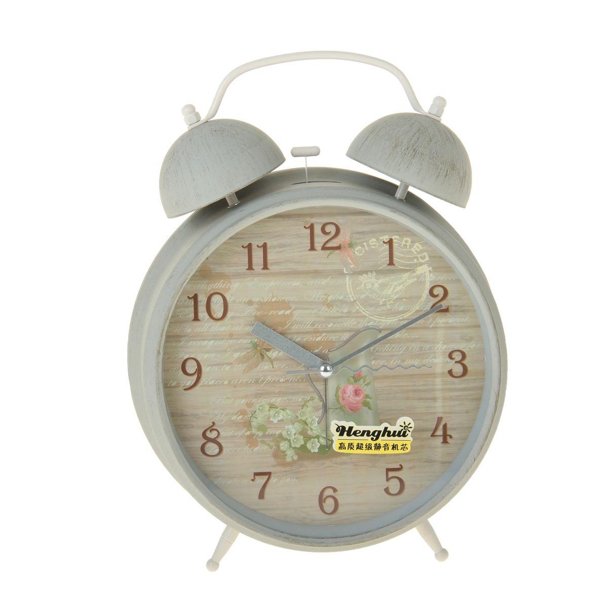 Часы-будильник Sima-land Кувшин и цветы906627Как же сложно иногда вставать вовремя! Всегда так хочется поспать еще хотя бы 5 минут и бывает, что мы просыпаем. Теперь этого не случится! Яркий, оригинальный будильник Sima-land Кувшин и цветы поможет вам всегда вставать в нужное время и успевать везде и всюду. Корпус будильника выполнен из металла. Циферблат имеет индикацию арабскими цифрами. Часы снабжены 4 стрелками (секундная, минутная, часовая и для будильника). На задней панели будильника расположен переключатель включения/выключения механизма, а также два колесика для настройки текущего времени и времени звонка будильника. Также будильник оснащен кнопкой, при нажатии которой подсвечивается циферблат. Пользоваться будильником очень легко: нужно всего лишь поставить батарейку, настроить точное время и установить время звонка. Необходимо докупить 1 батарейку типа АА (не входит в комплект).