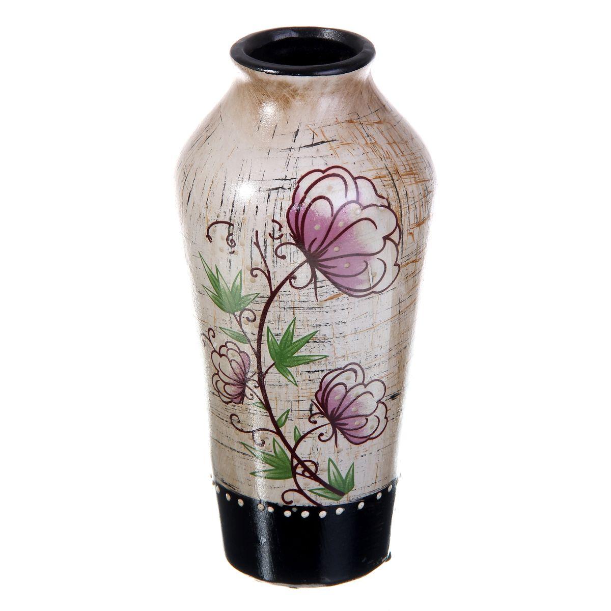 Ваза керамика цветочная 20*9см 912898