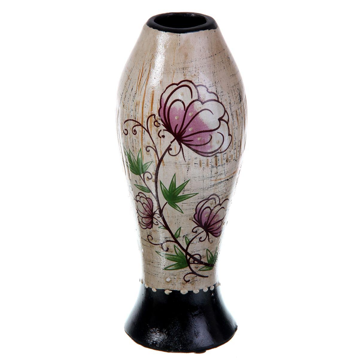 Ваза керамика цветочная 20*9см ножка 912899