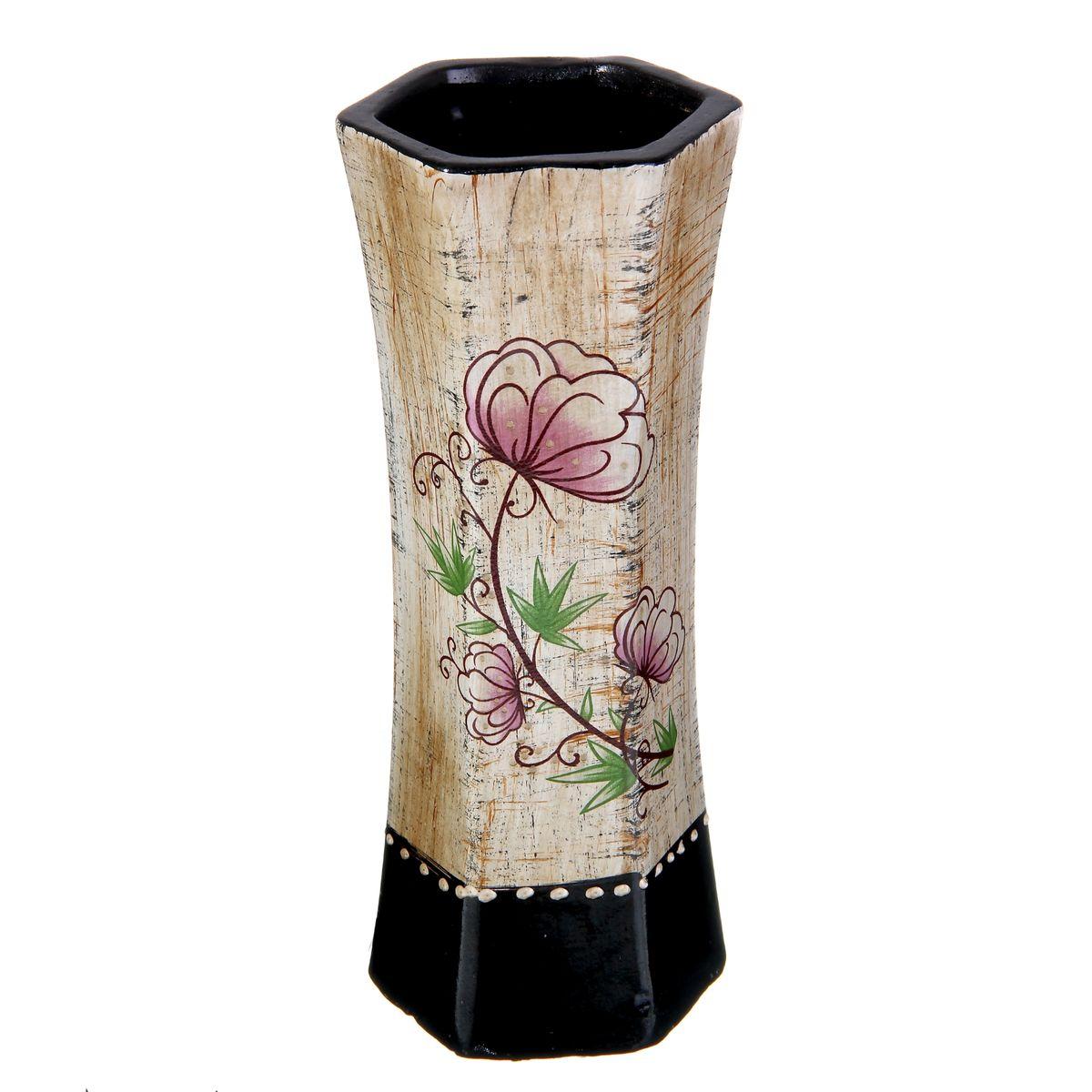 Ваза Sima-land Цветочная, высота 24 см912901Элегантная ваза Sima-land Цветочная, изготовленная из высококачественной керамики, оформлена в благородных древесных оттенках с ярким рисунком. Интересная форма и необычное оформление сделают эту вазу замечательным украшением интерьера. Она предназначена как для живых, так и для искусственных цветов. Любое помещение выглядит незавершенным без правильно расположенных предметов интерьера. Они помогают создать уют, расставить акценты, подчеркнуть достоинства или скрыть недостатки.