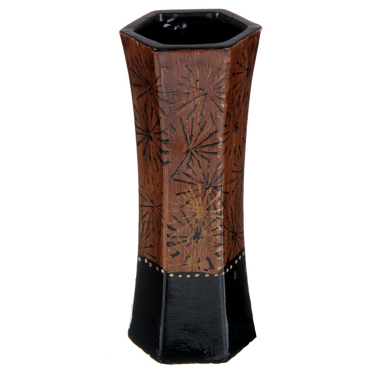 Ваза Sima-land Одуванчик, высота 24,5 см912906Элегантная ваза Sima-land Одуванчик, изготовленная из высококачественной керамики, оформлена в благородных древесных оттенках с ярким рисунком. Интересная форма и необычное оформление сделают эту вазу замечательным украшением интерьера. Она предназначена как для живых, так и для искусственных цветов. Любое помещение выглядит незавершенным без правильно расположенных предметов интерьера. Они помогают создать уют, расставить акценты, подчеркнуть достоинства или скрыть недостатки.